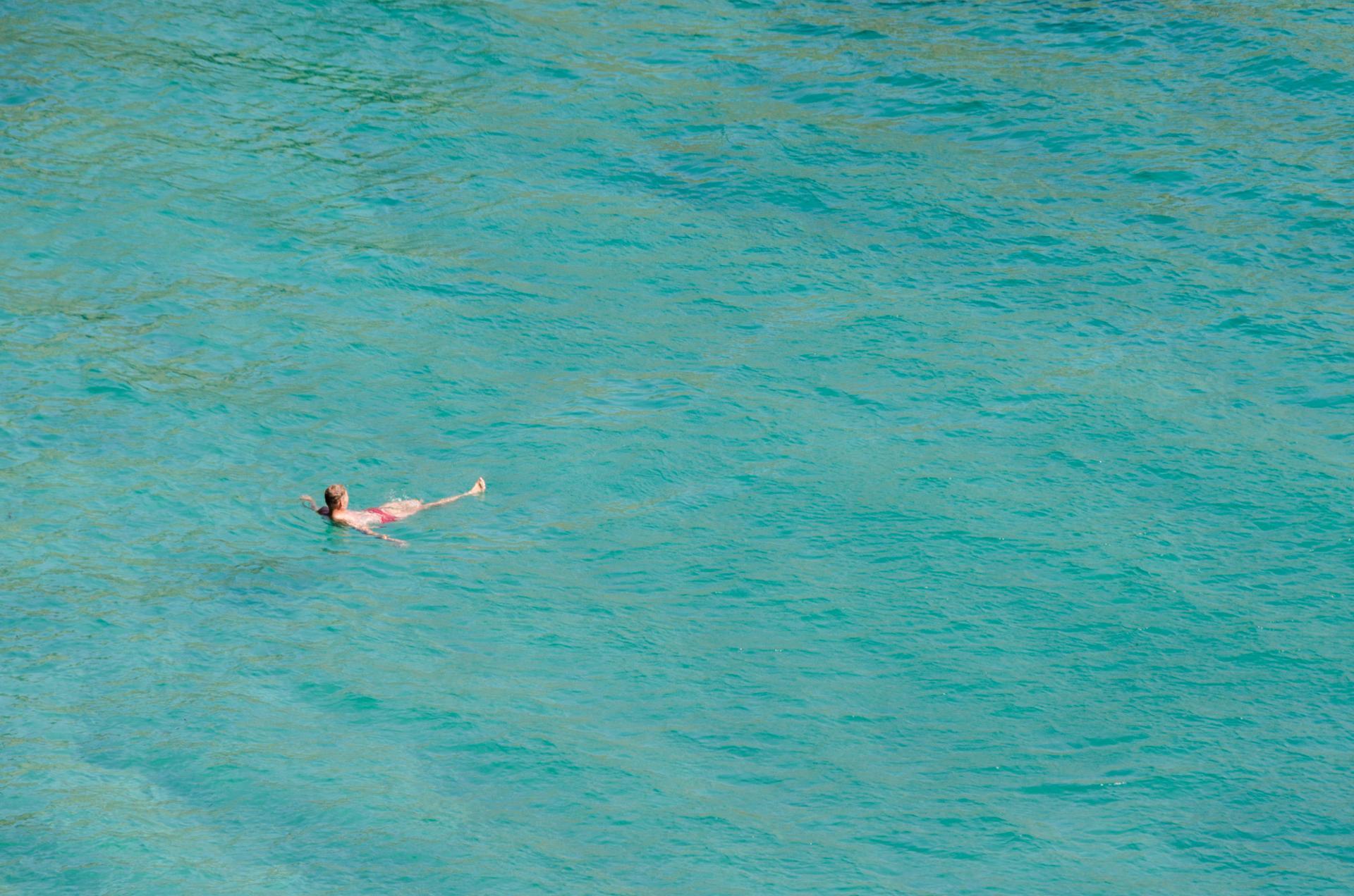 Bain de mer à Belle-Ile