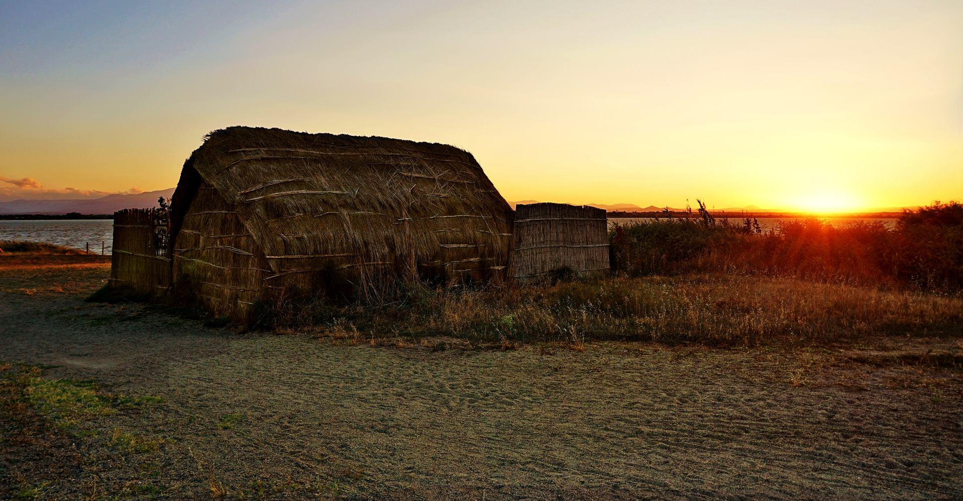 La cabane de roseaux