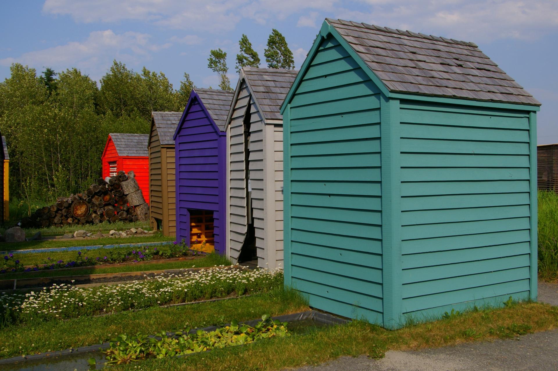 Les cabanes du jardin de Métis