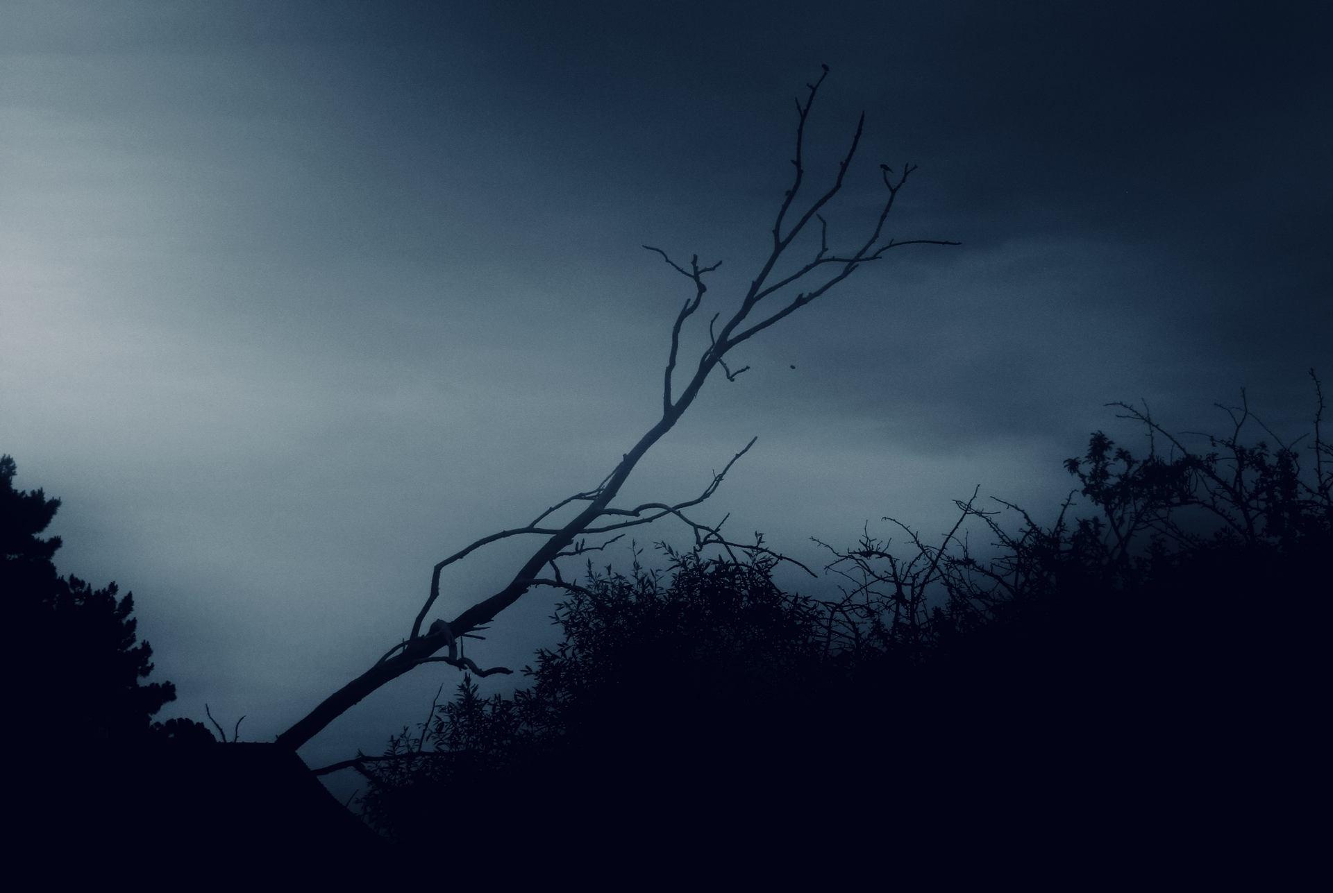 De ses bras nus, il déchira le ciel.