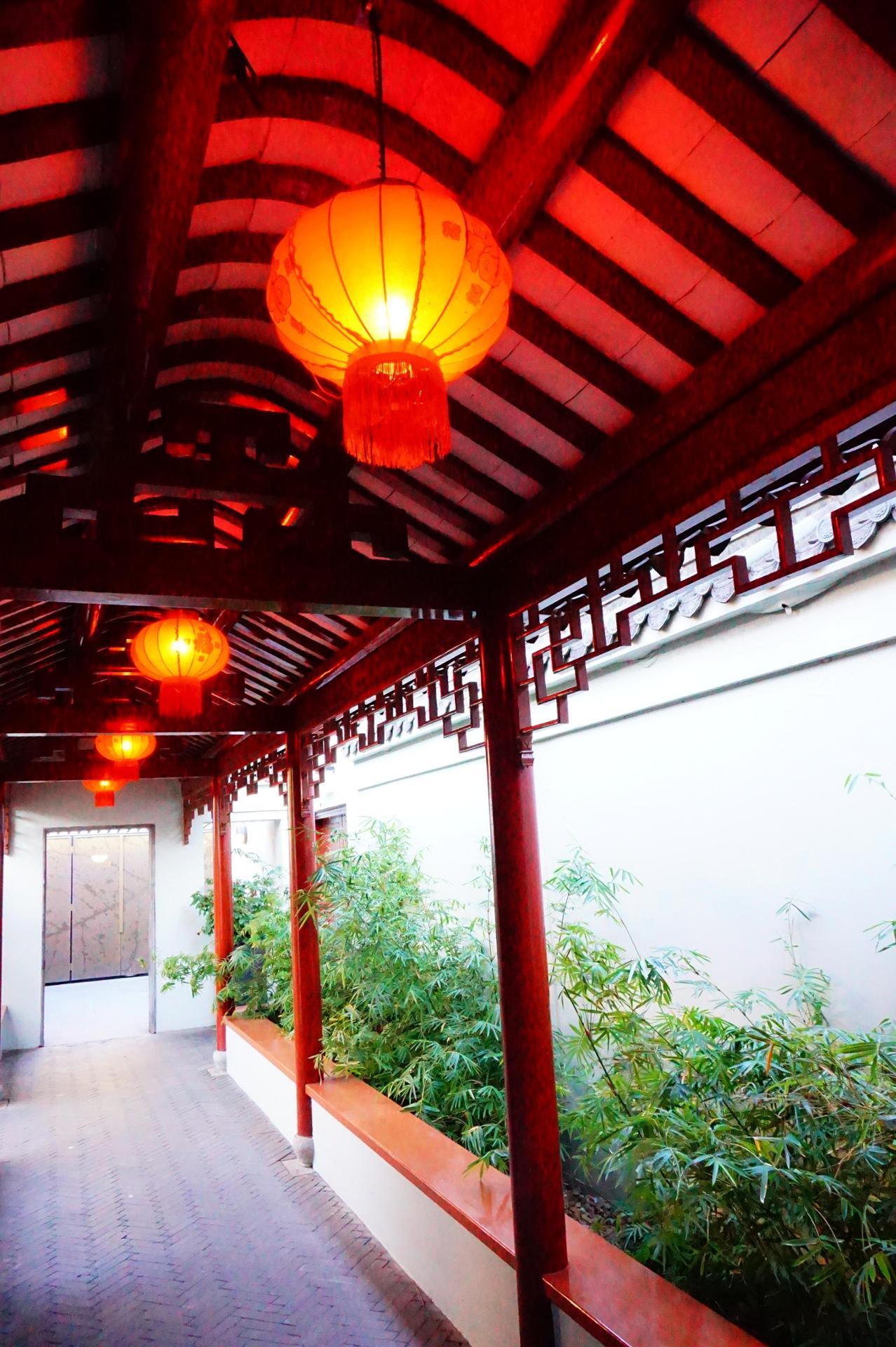Couloir de bambous