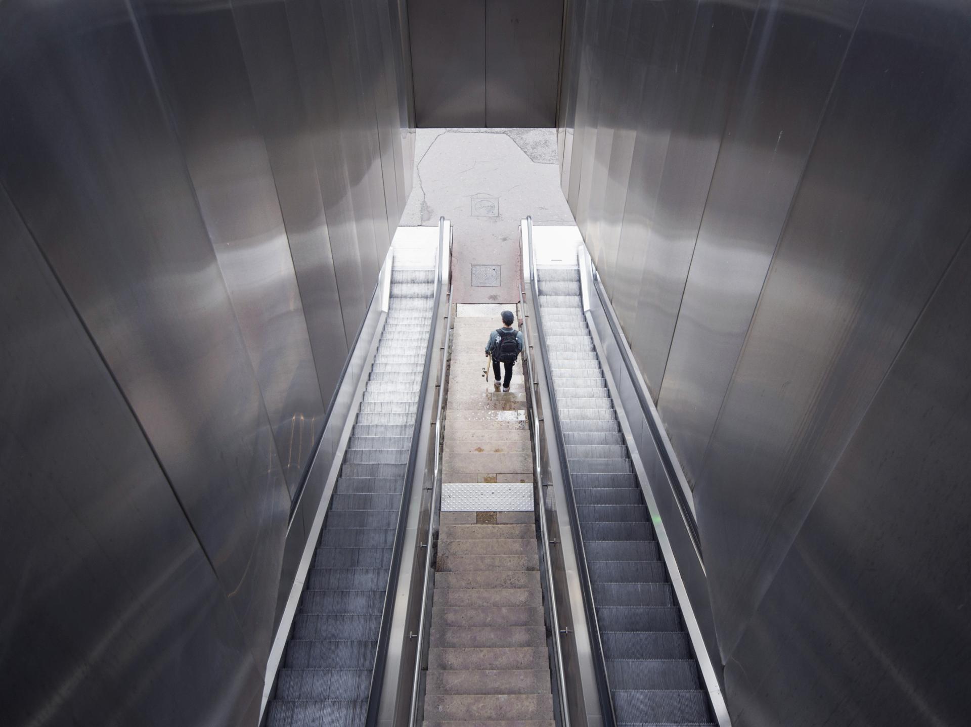 silver escalator