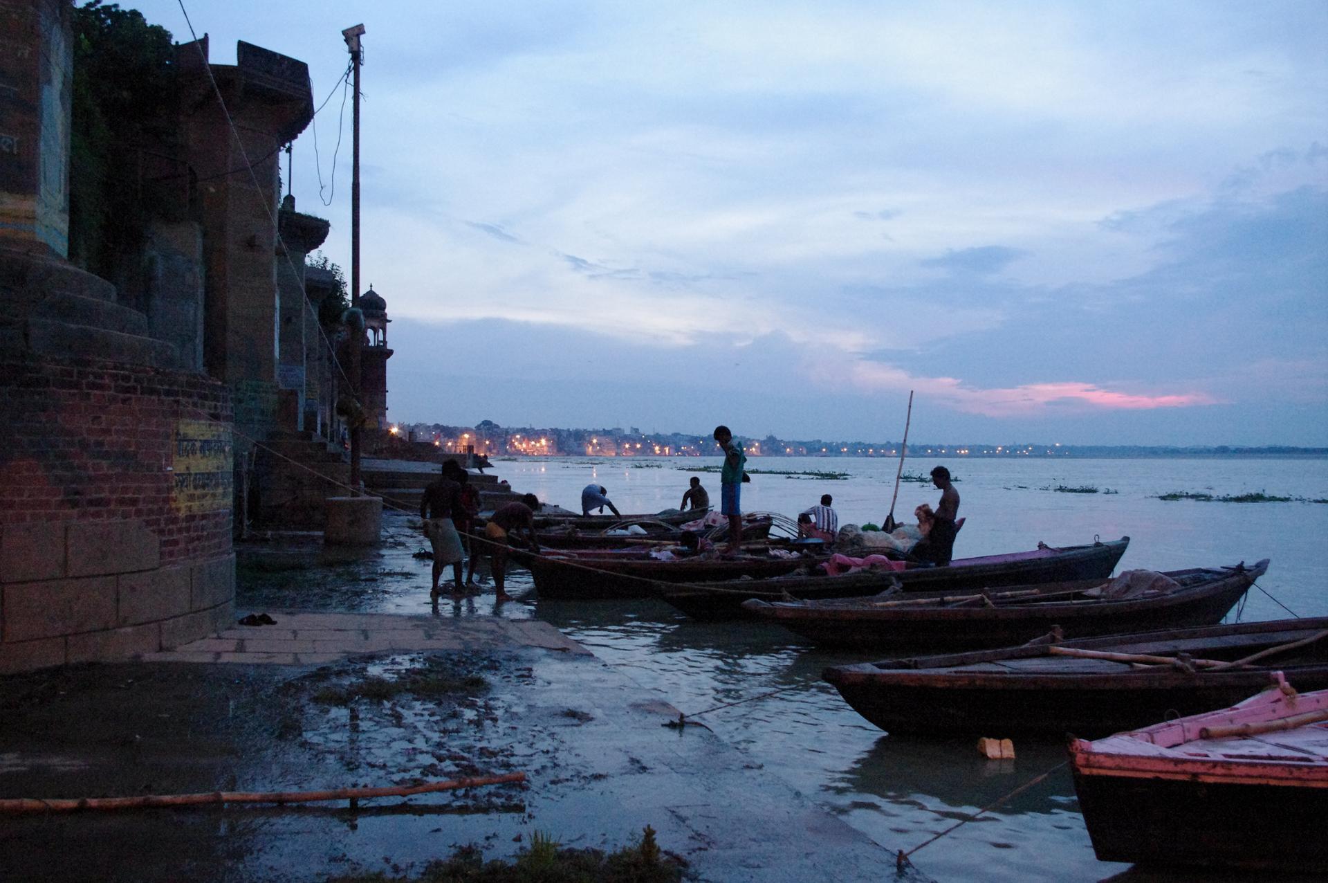 Le Gange au petit matin