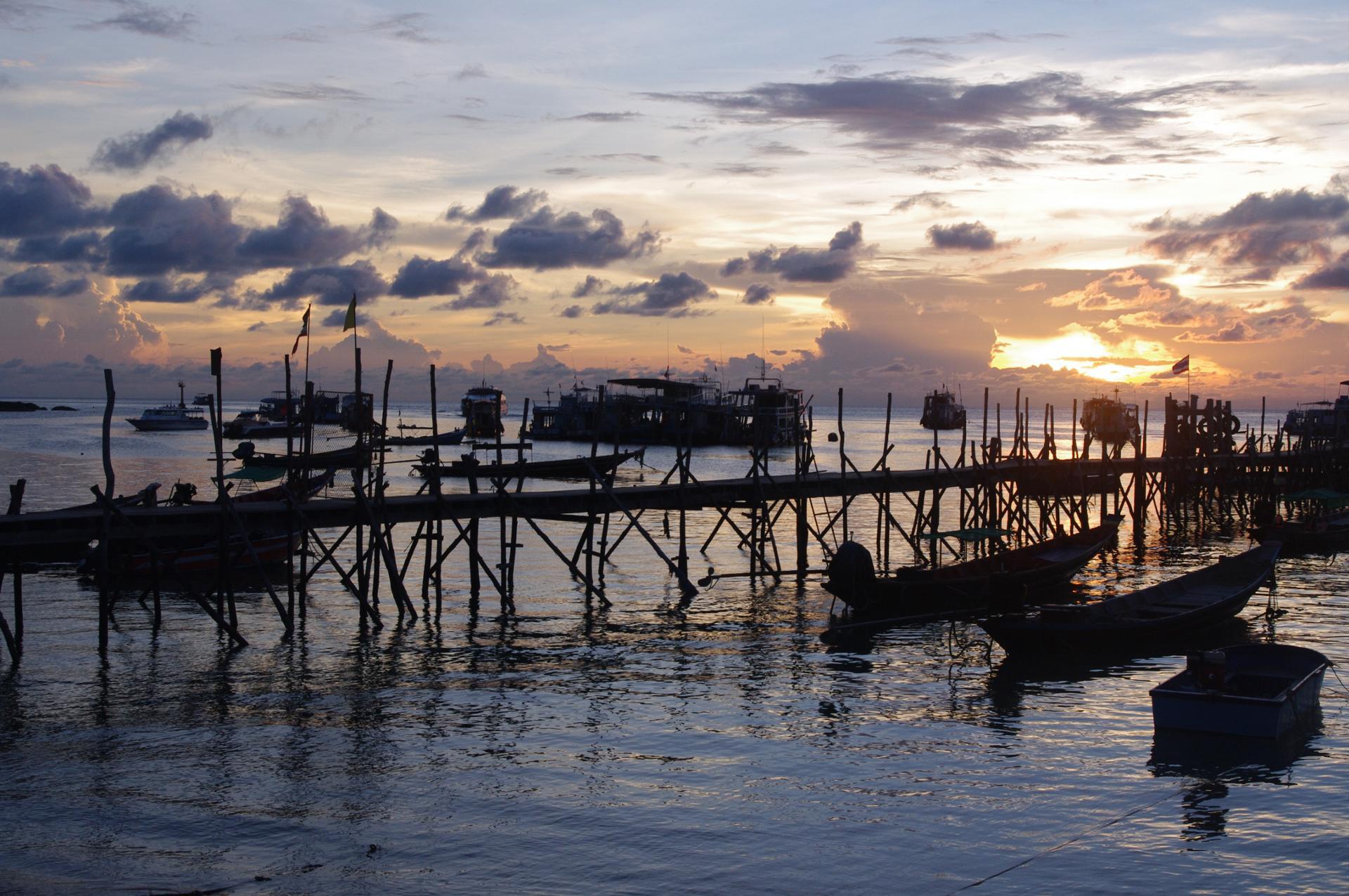 port de Koh Tao, Thailande