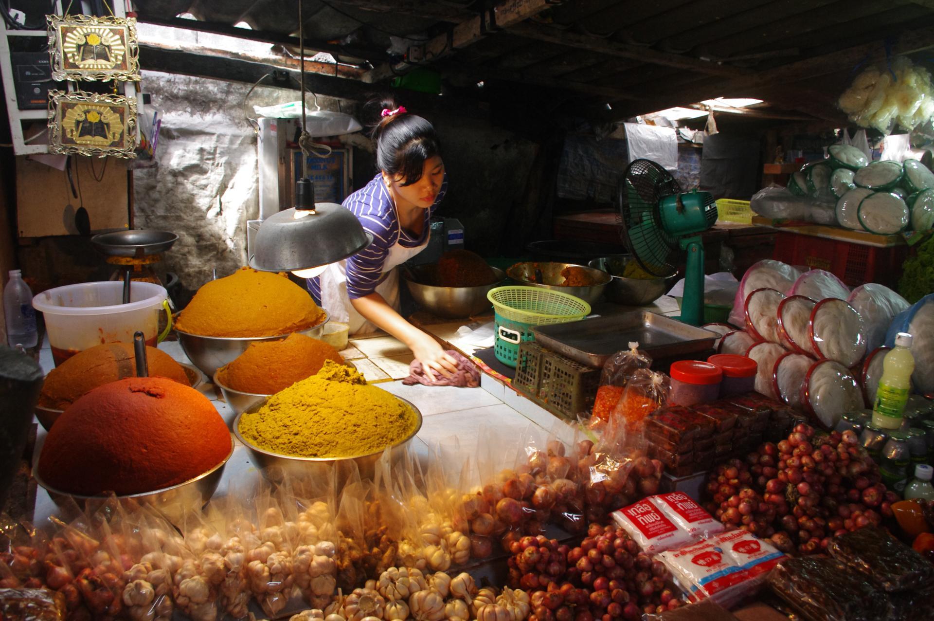 marché à Krabi, thailande