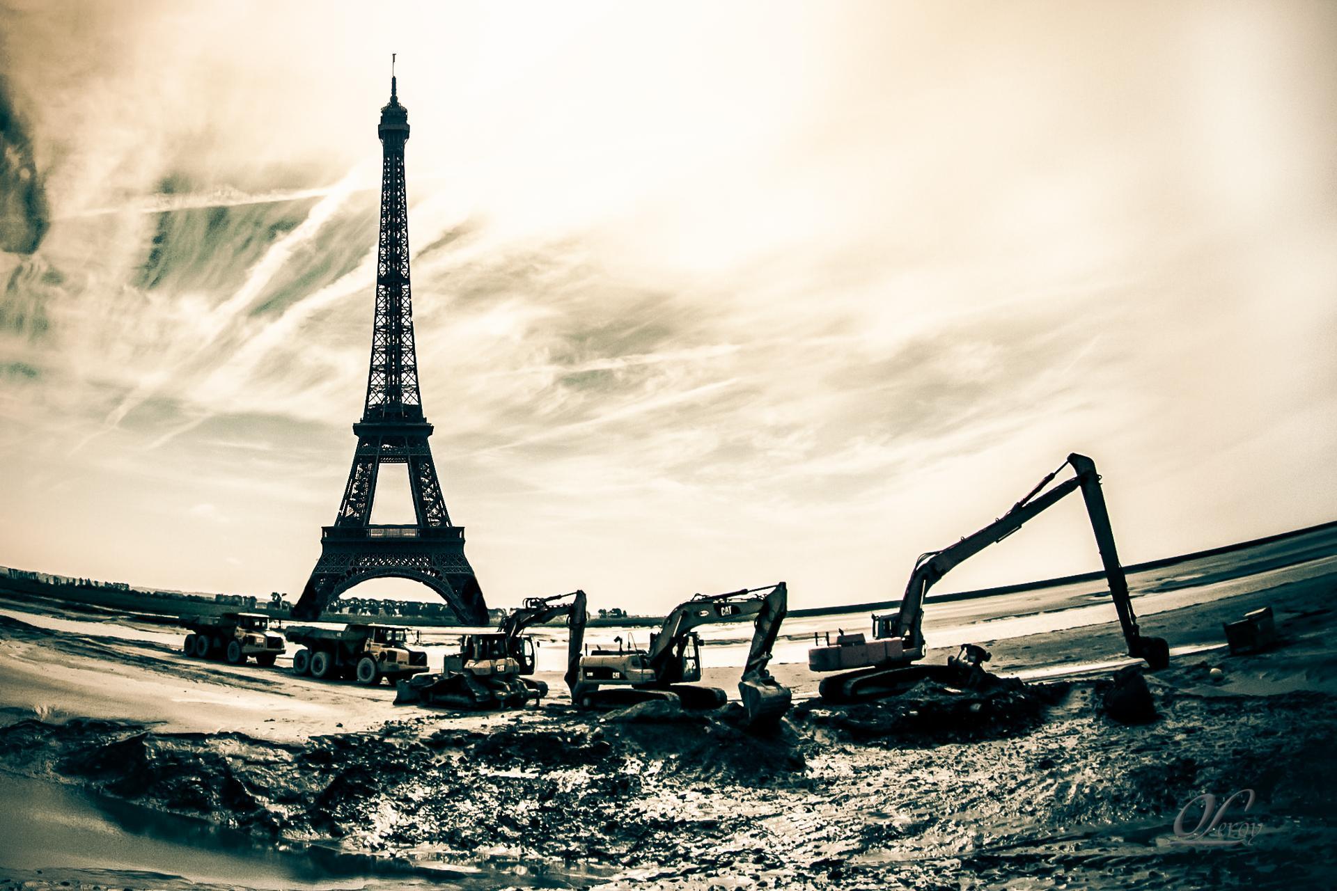 Travaux à la Tour Eiffel