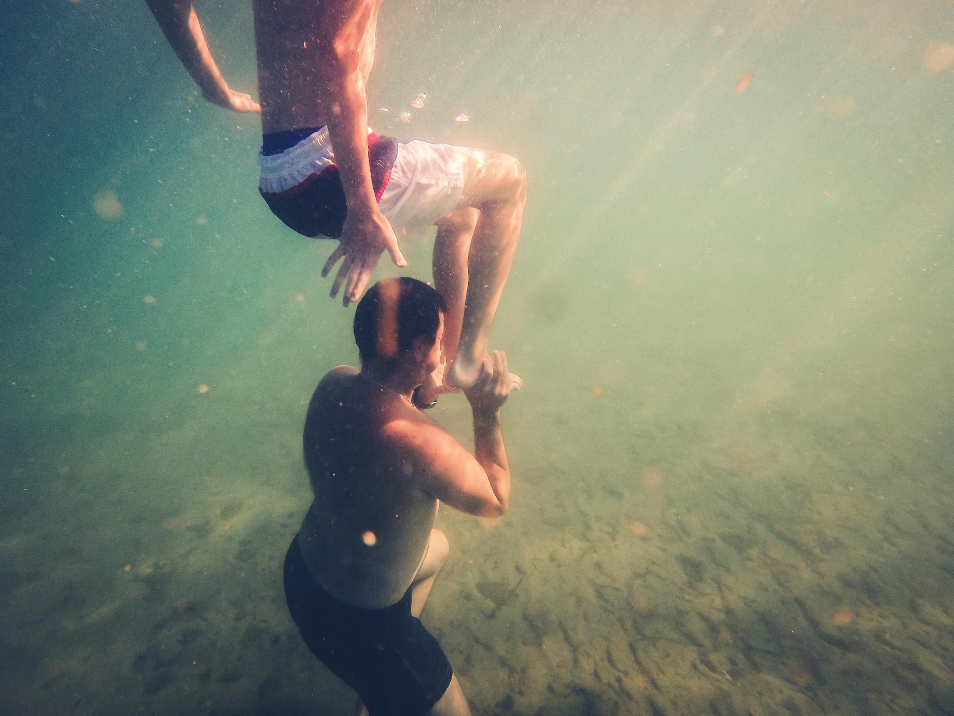 jeu subaquatique