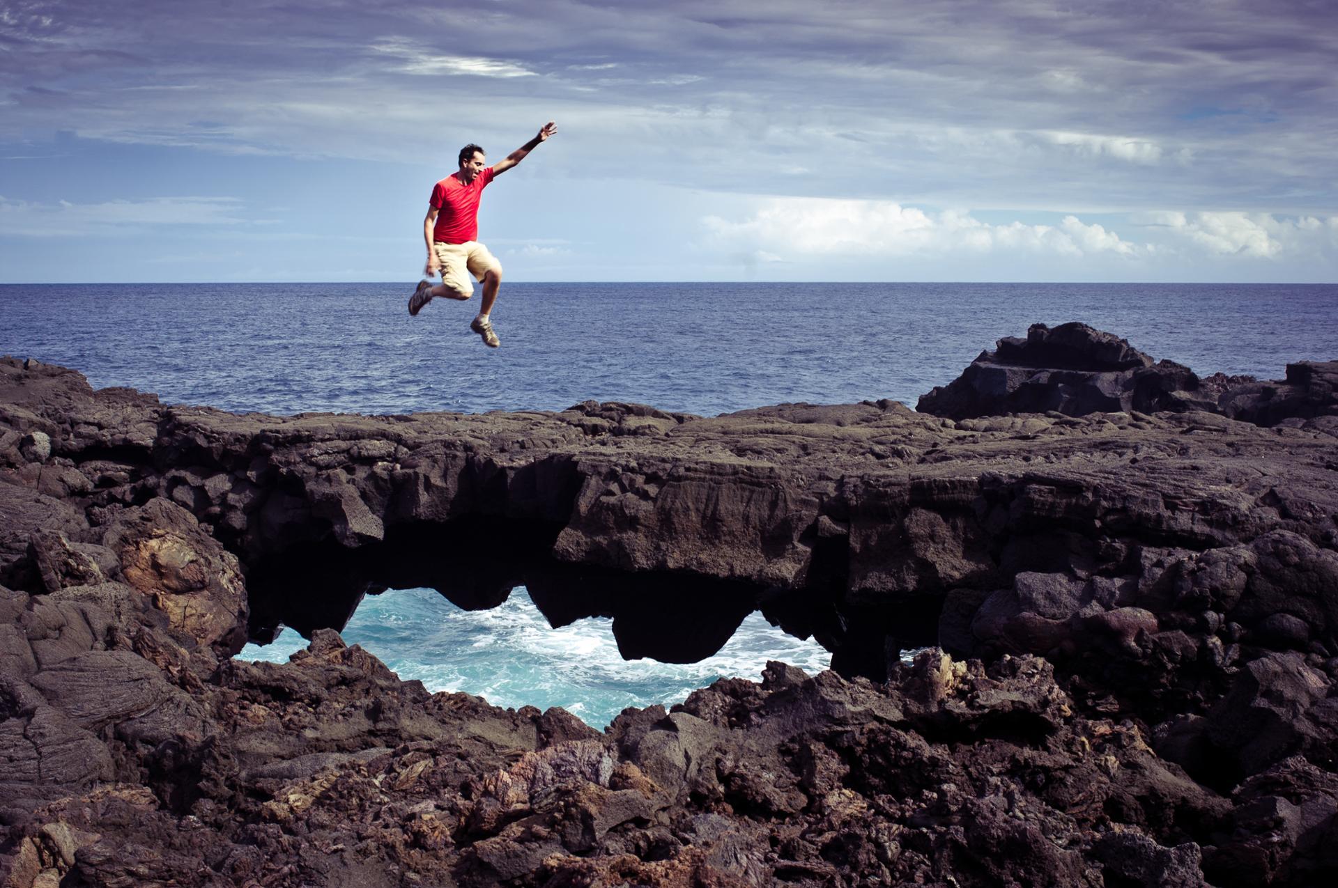 Jump and hole