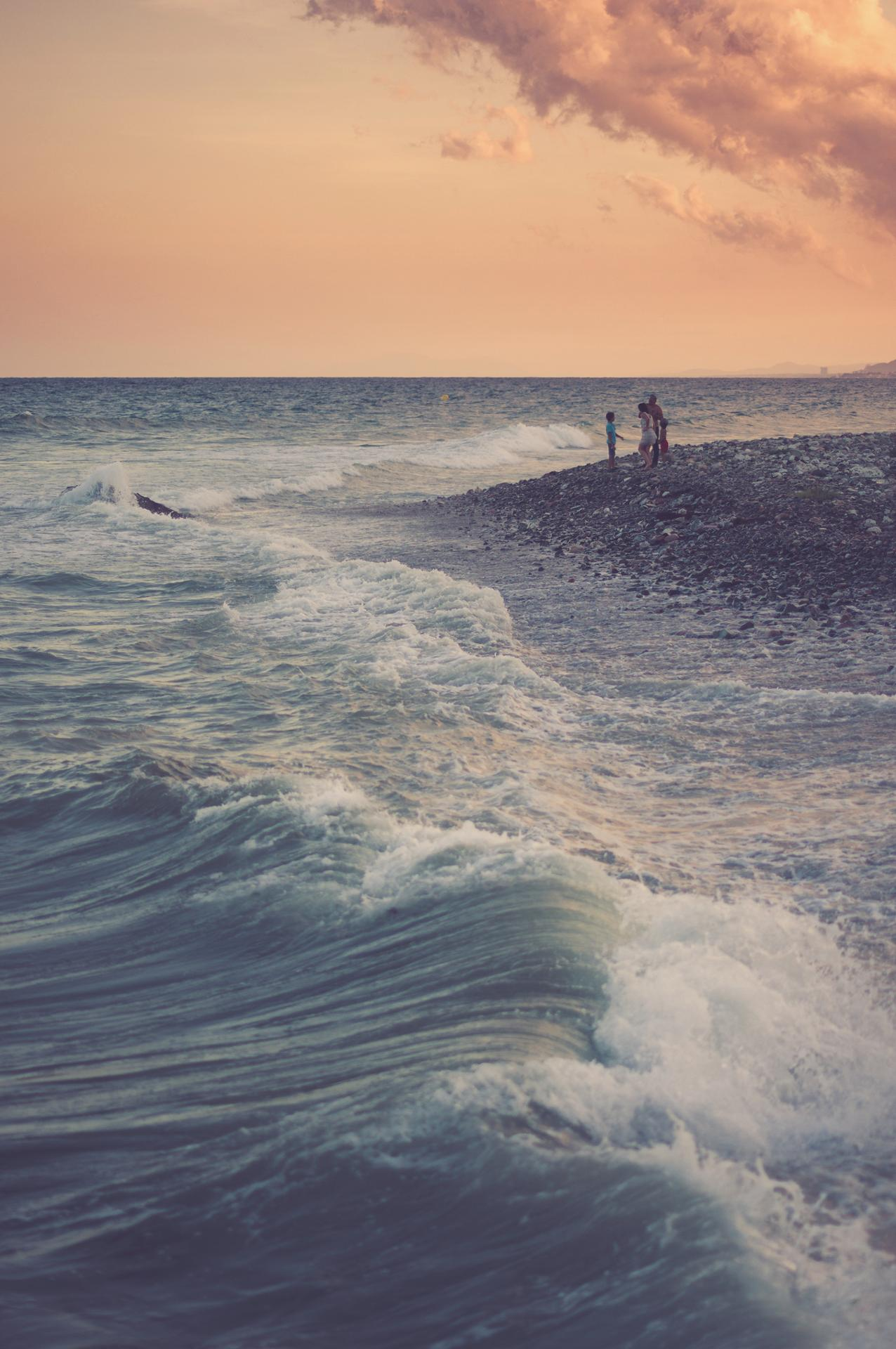Face aux vagues