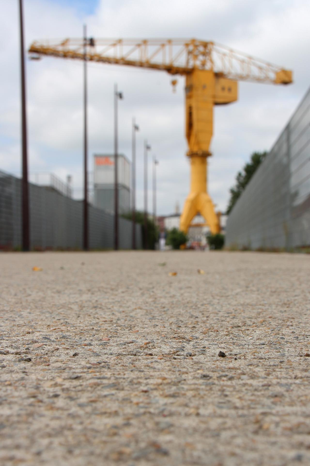 Grue Titan jaune (Nantes)