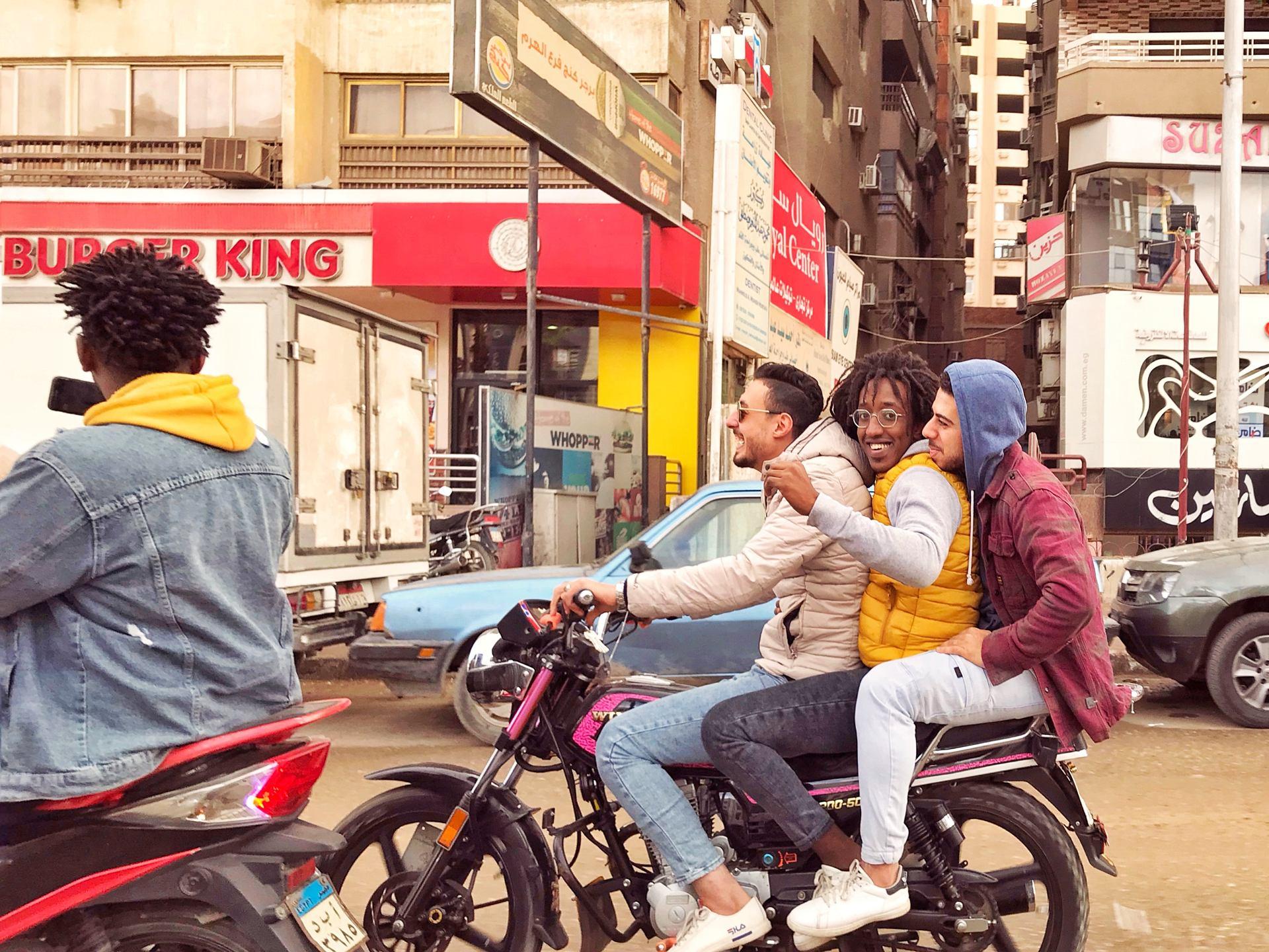 Sortie entre copains au Caire