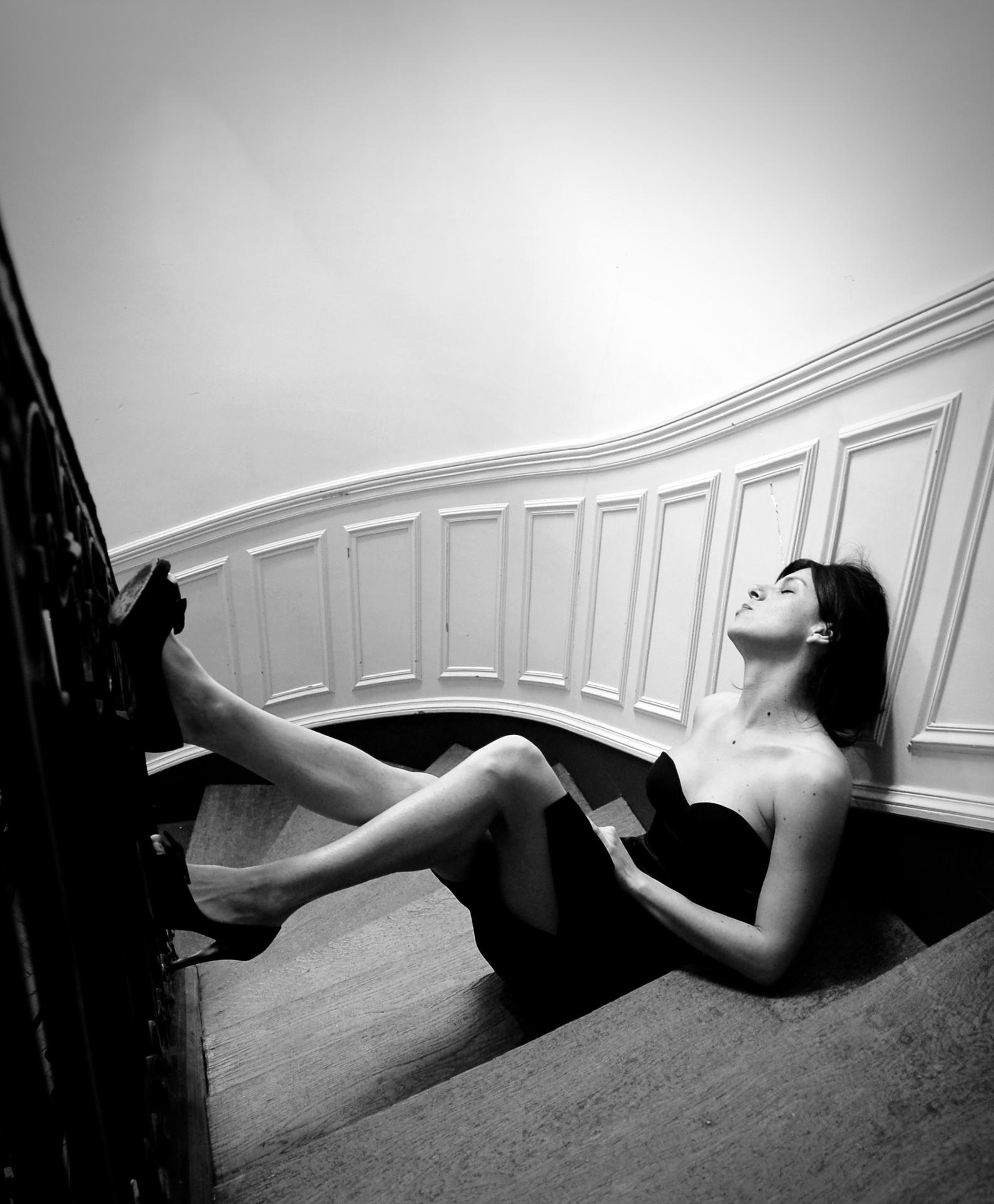 in the stairs