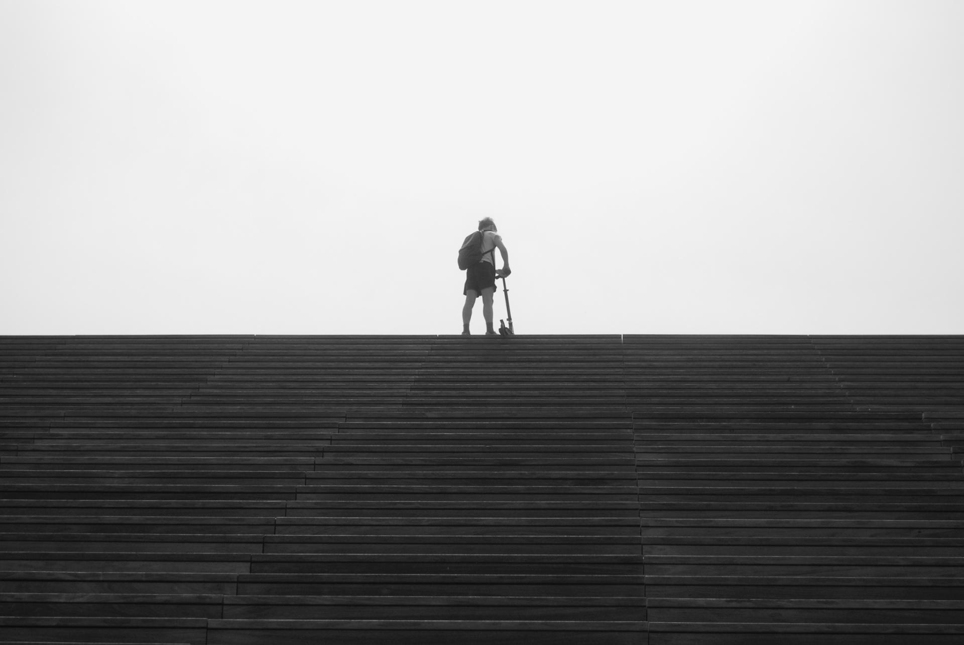 La trottinette des escaliers