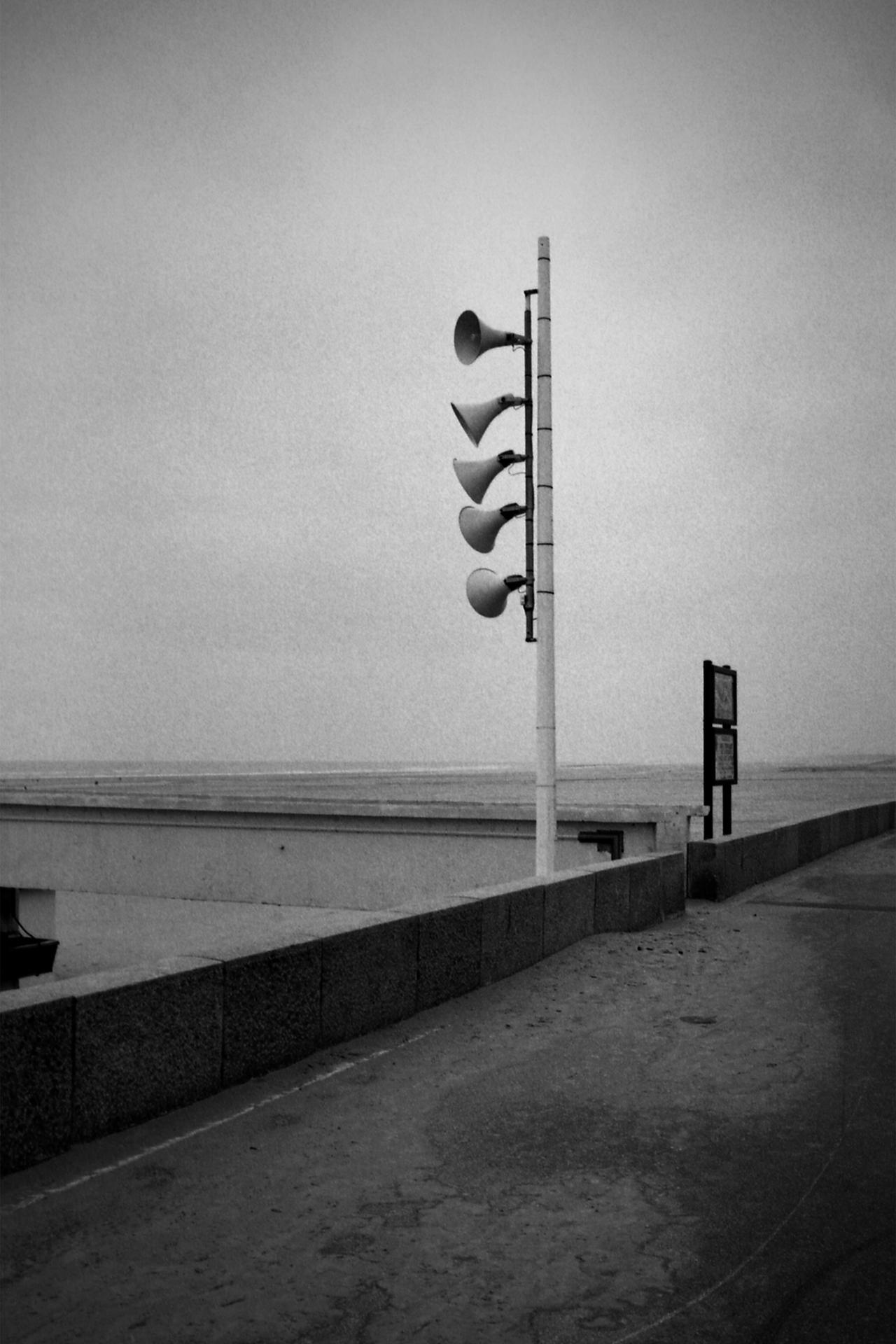 Appel au large, plage de Berck, France