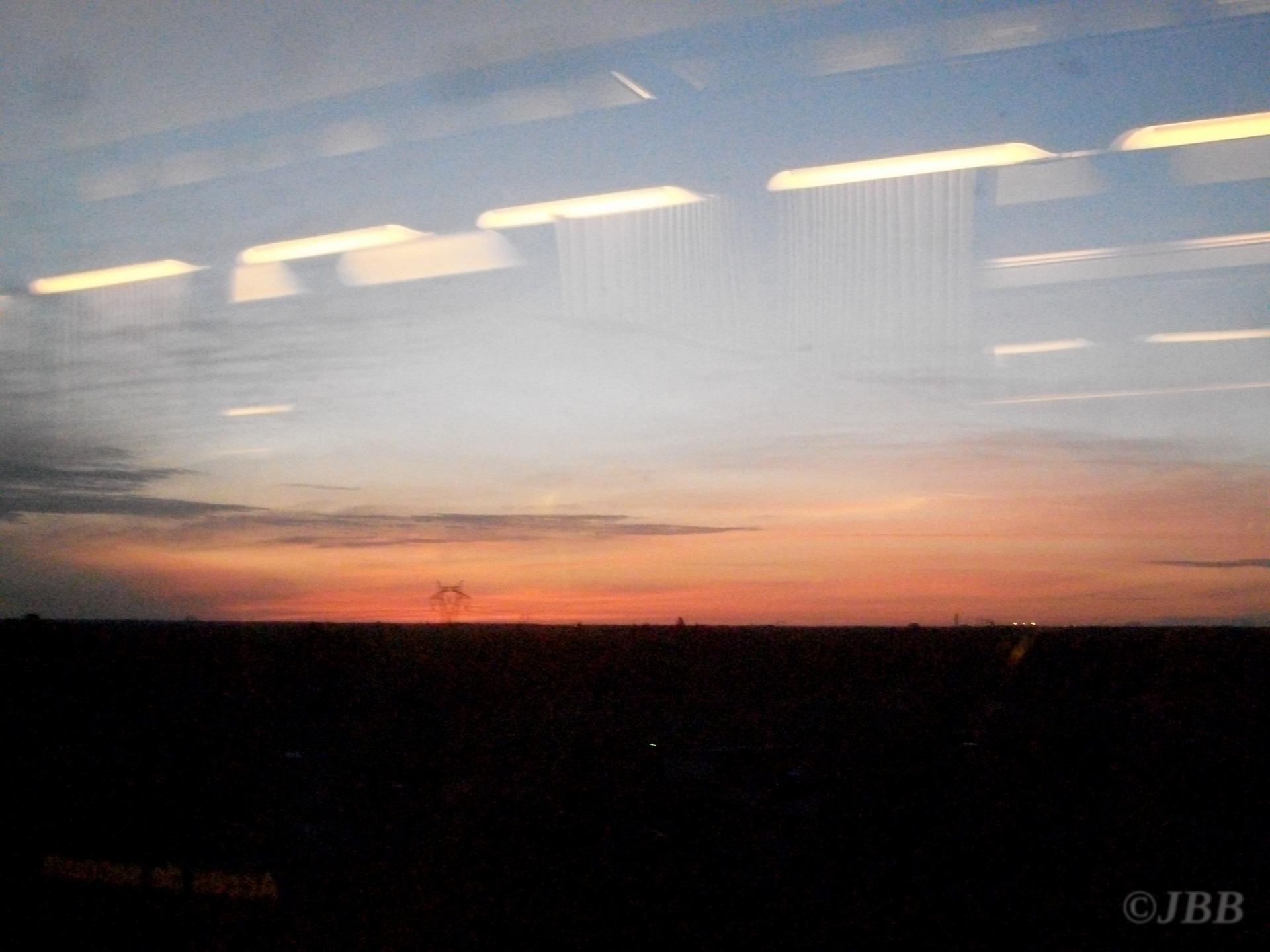 Sunshine from the La Rochelle - Bordeaux line