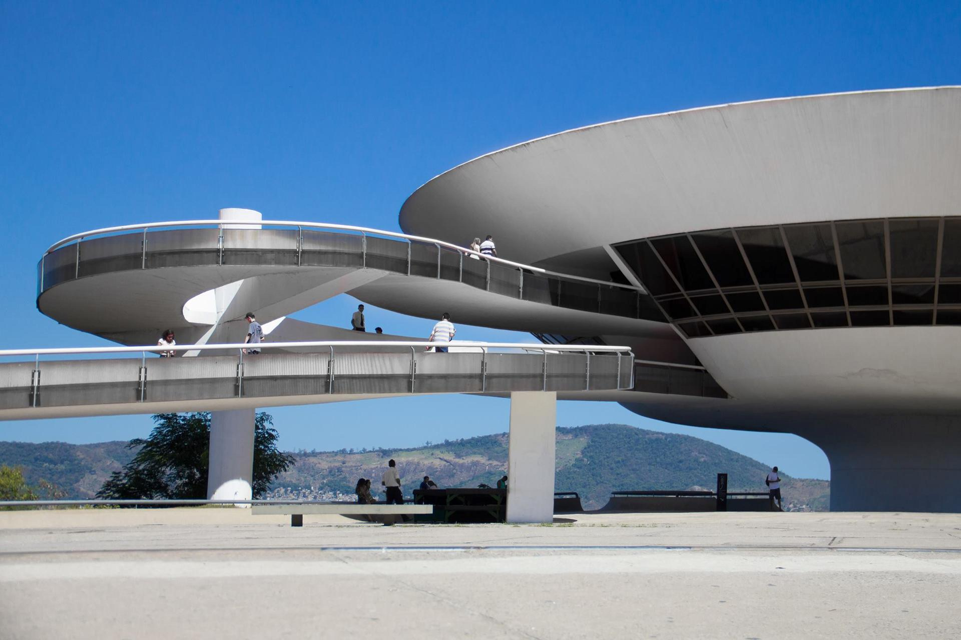 Museum in Niteroi -  Brazil by architect Oscar Niemeyer