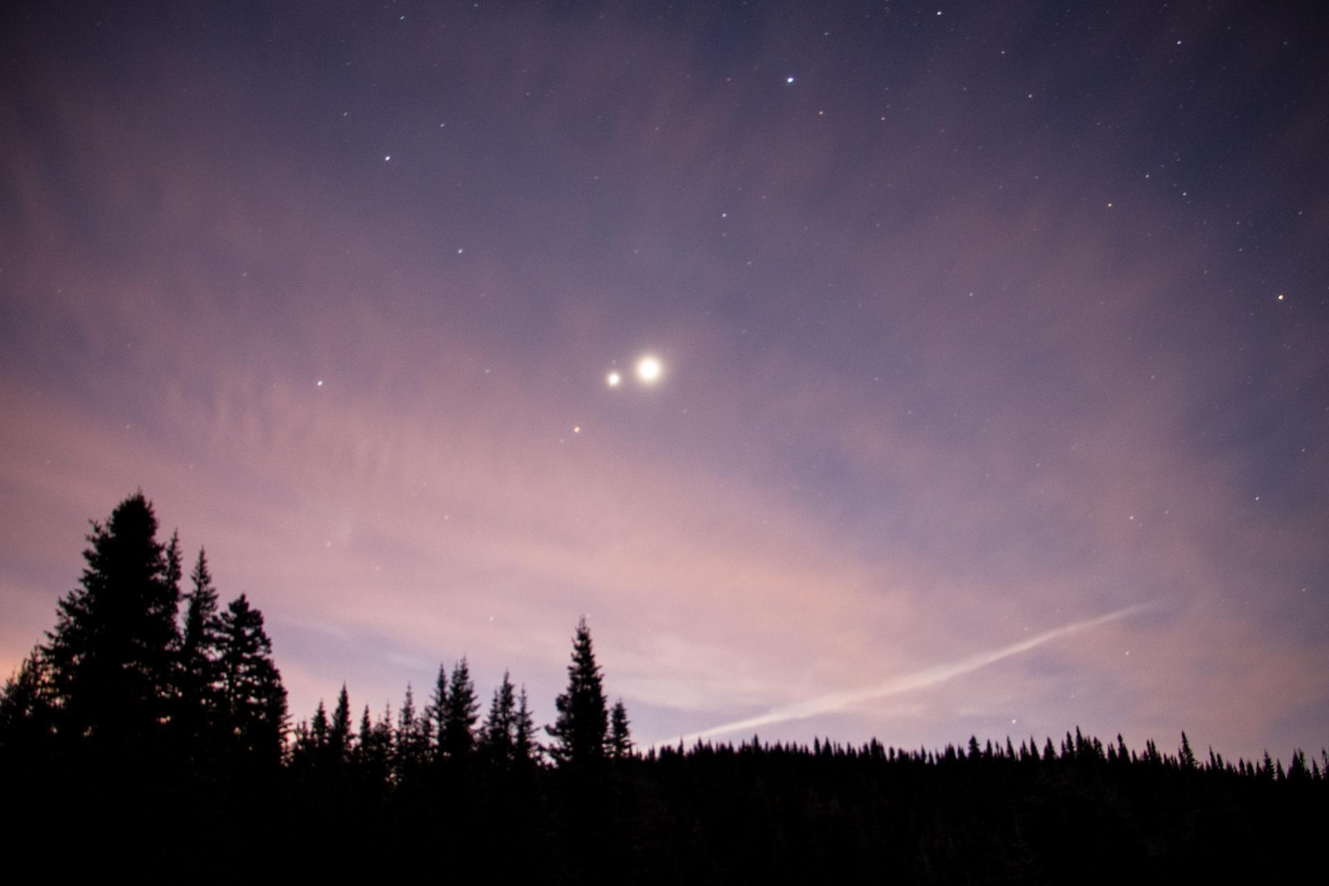 Mars, Jupiter et Vénus -