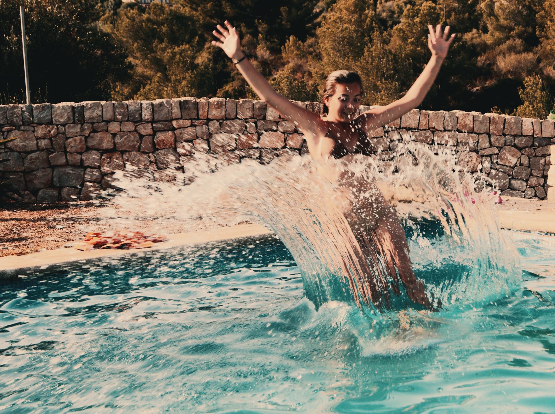 Un saut dans l'eau