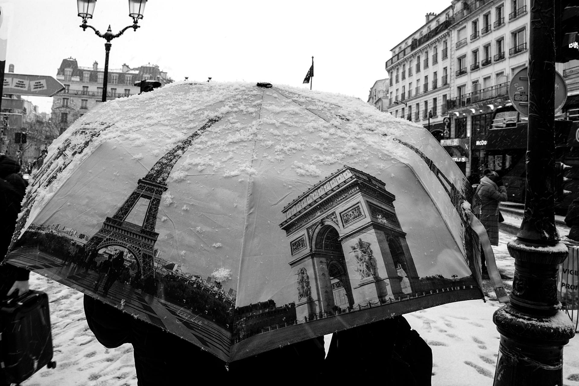 Premiers flocons à Paris