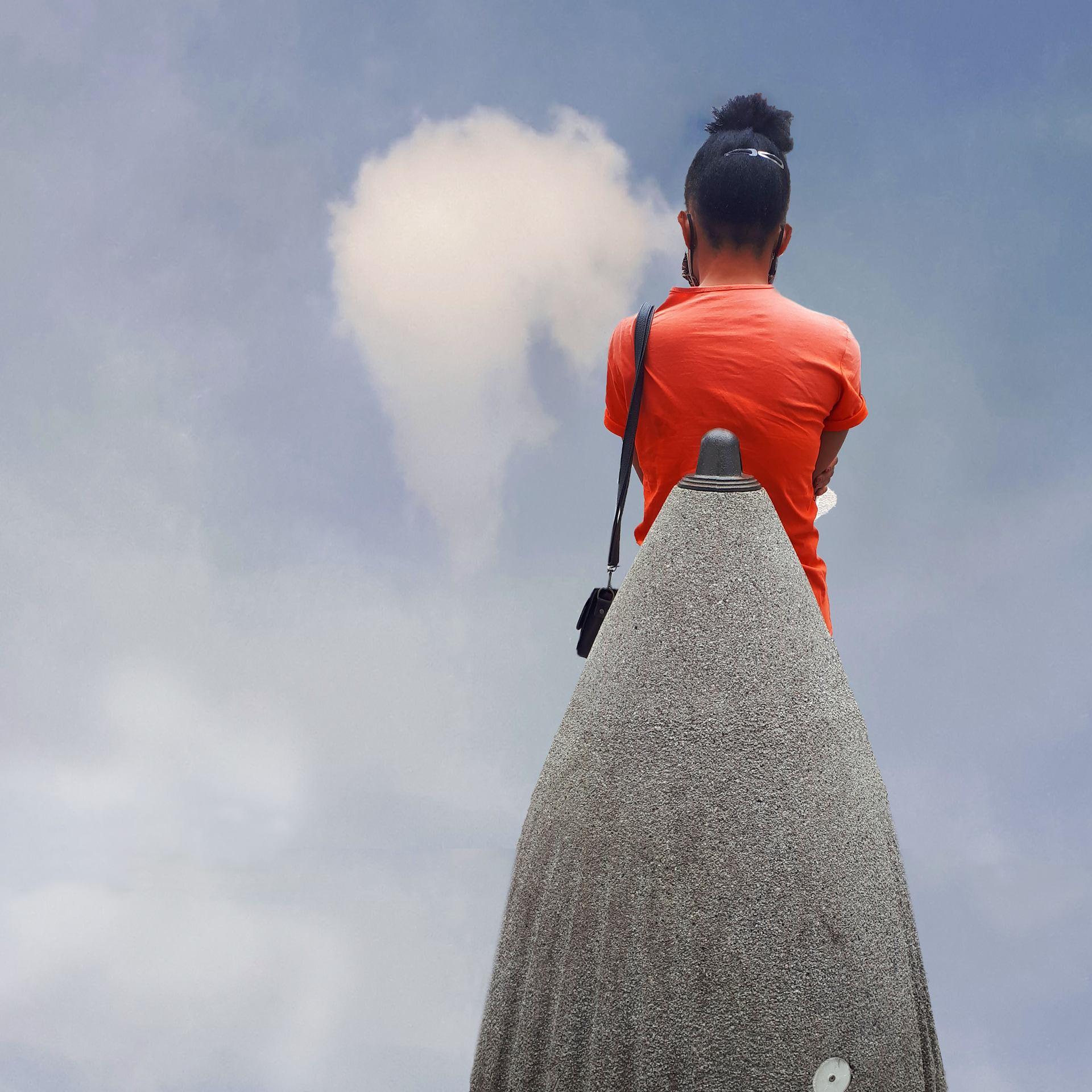 Tête dans le nuage
