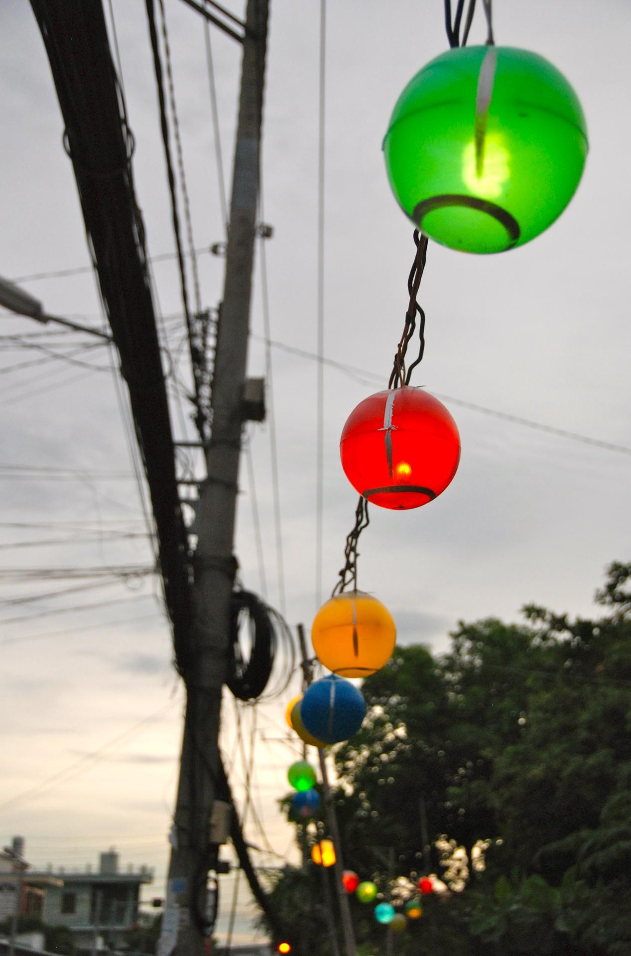 Lanternes arc en ciel