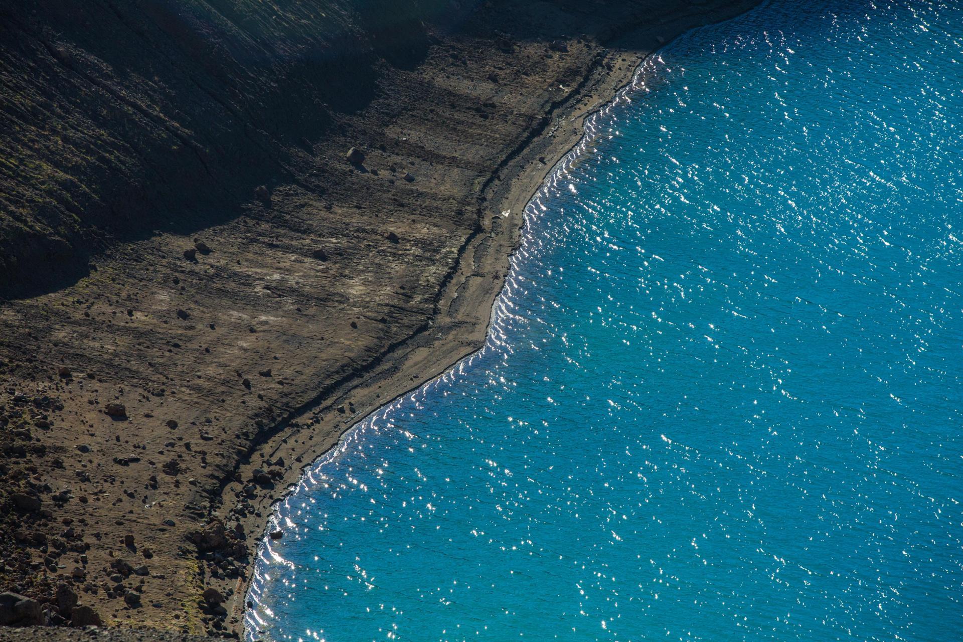 La plage du volcan.