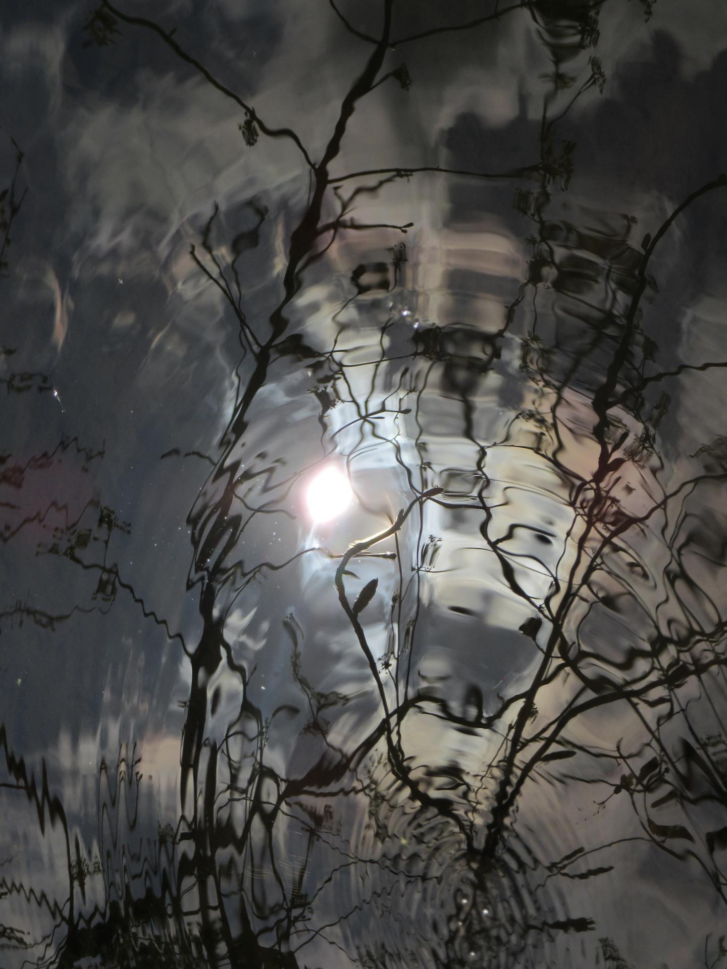 Reflet du soleil dans l'eau