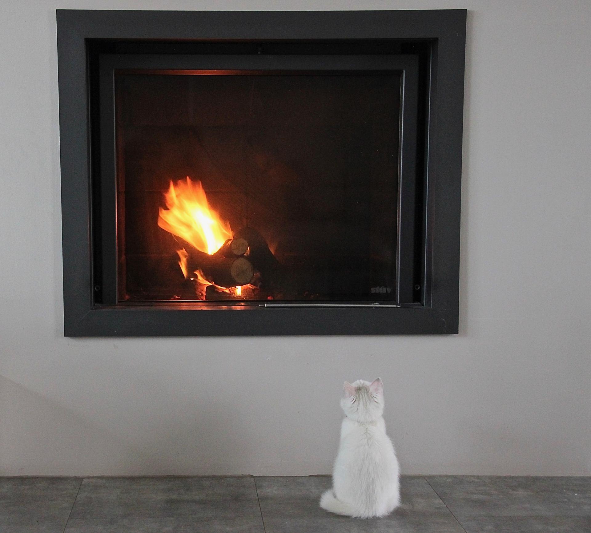 Au coin du feu.