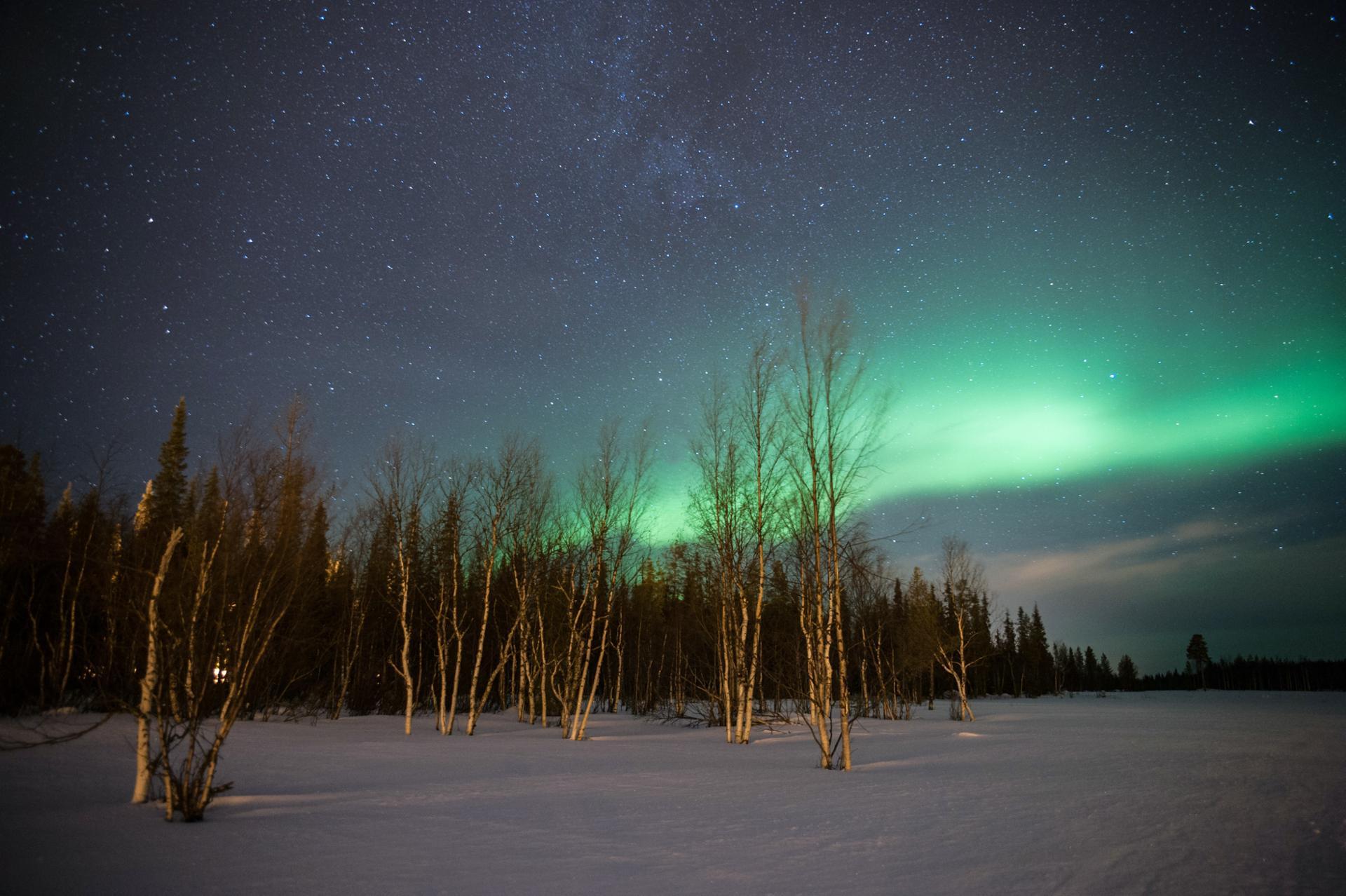 Aurore Boreale à Luosto - Laponie Finlandaise
