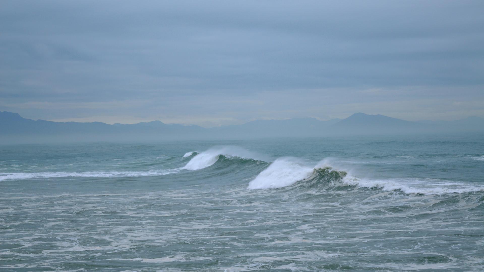 Tempête sur la côte