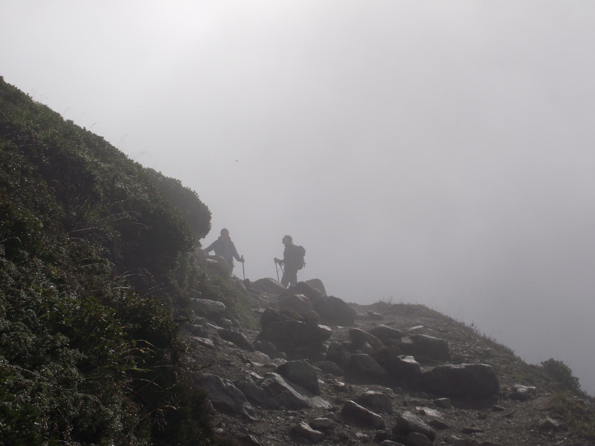 Ascension sous le brouillard