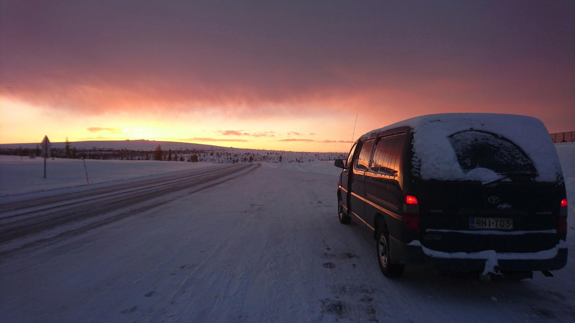 Roadtrip in Finnish Lapland..