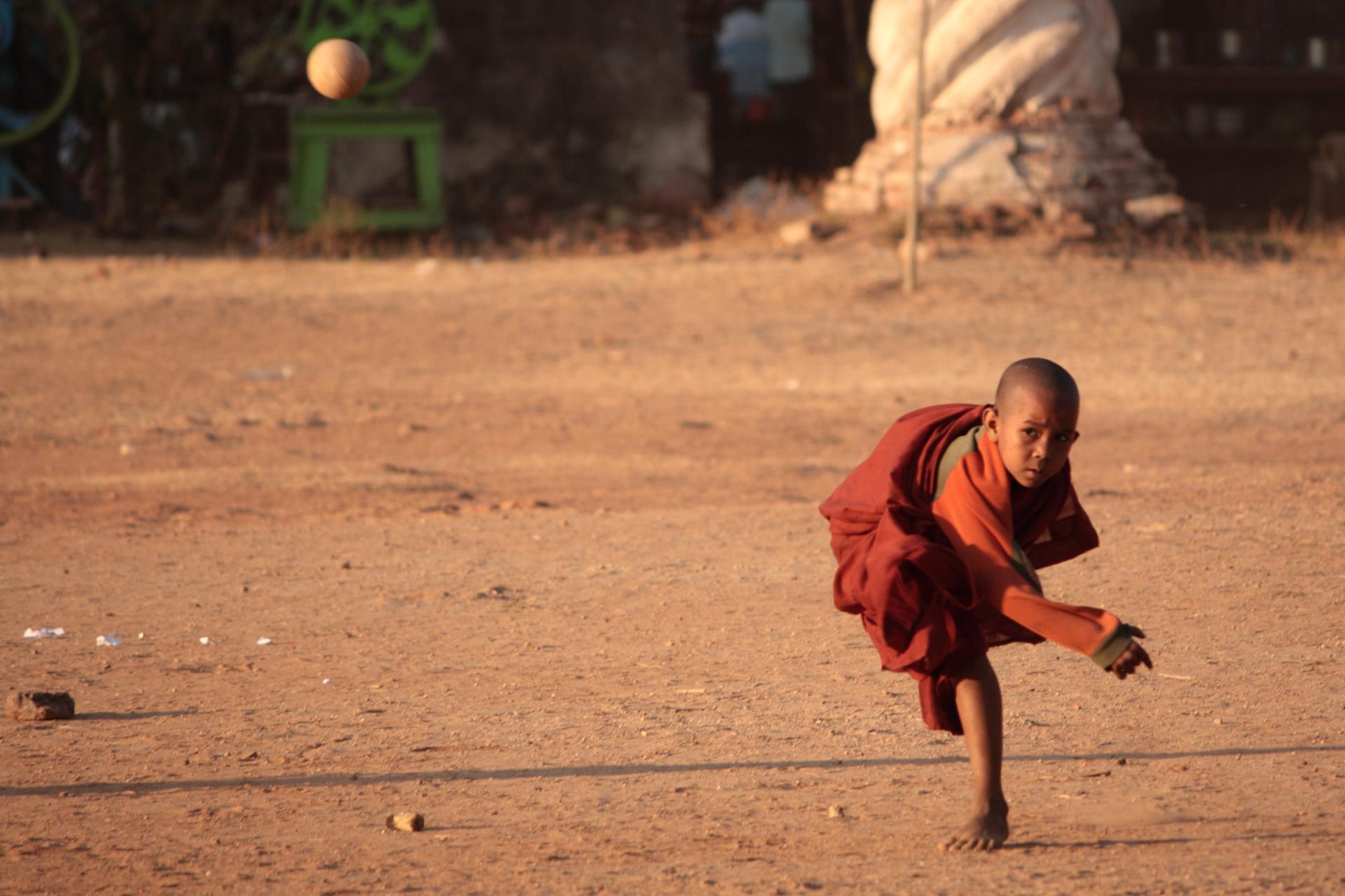 Baseball, Monks, Myanmar