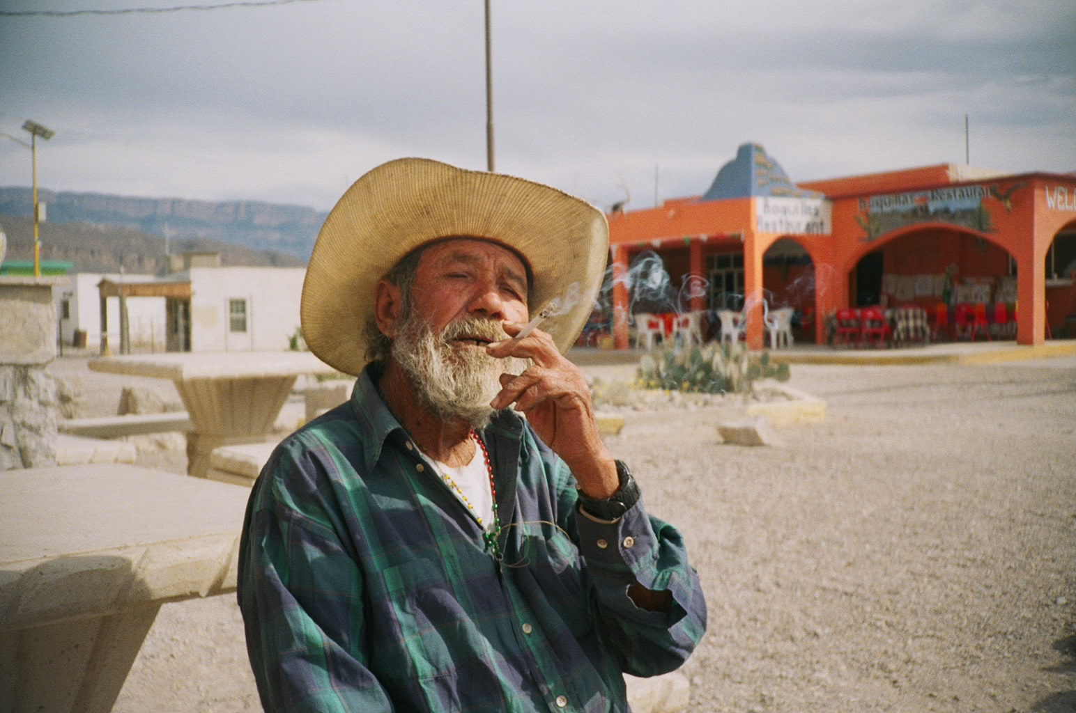 Wise man, Boquillas, Mexico, 2017