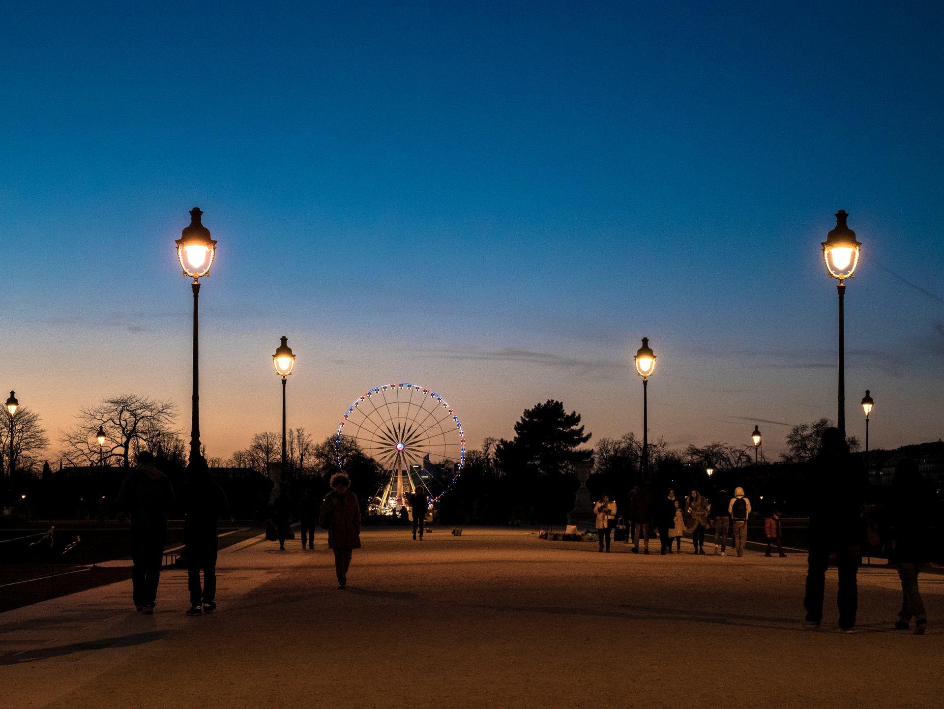 Dans mon jardin d'hiver, les Tuileries la nuit