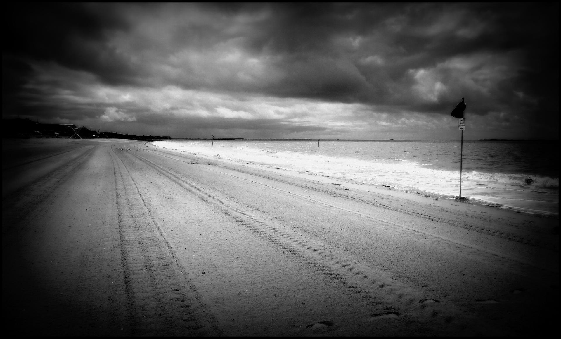 Une plage en hiver ...