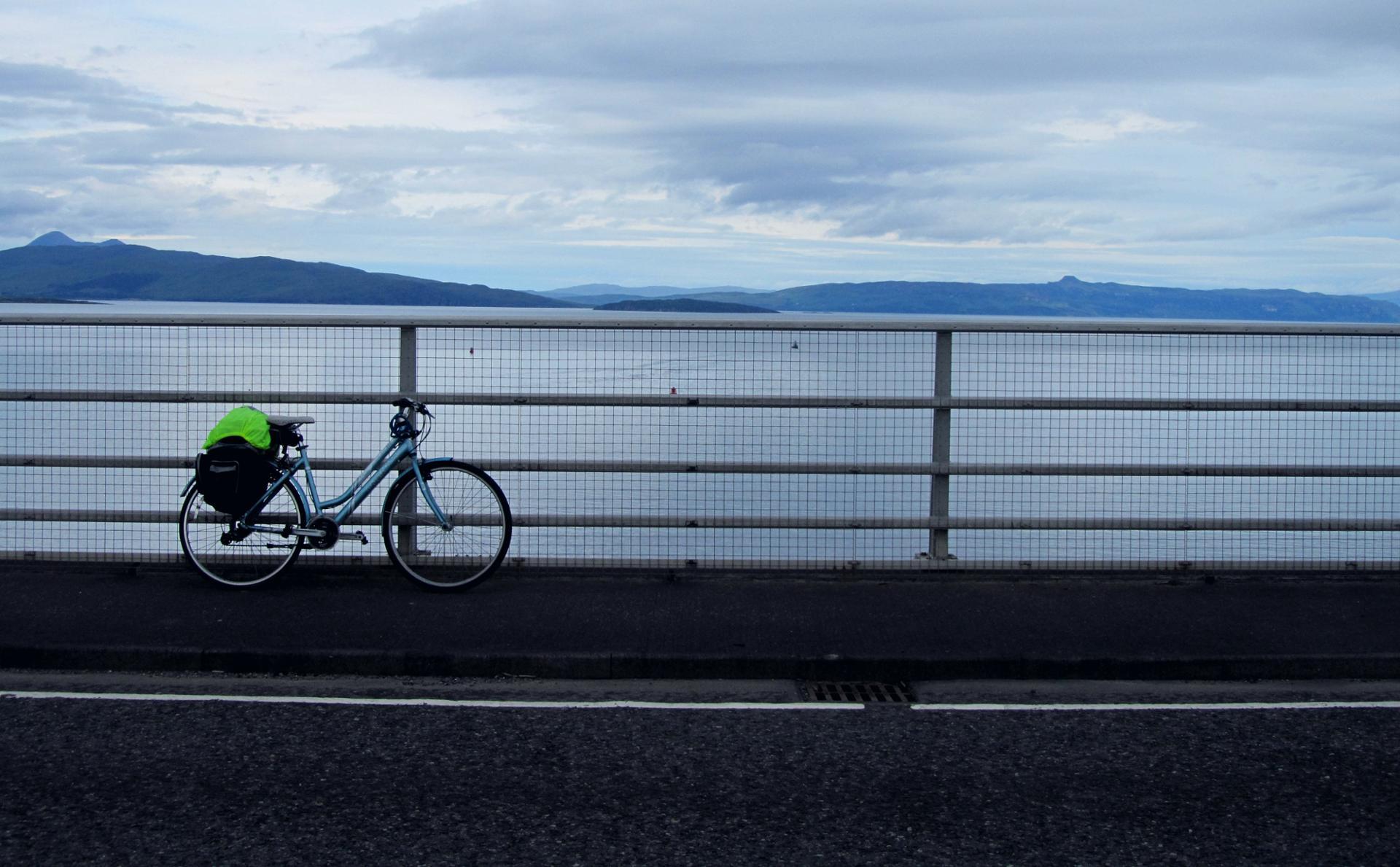 Behind the bike