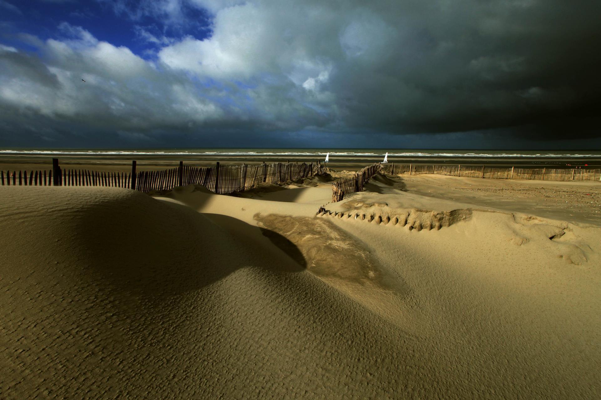 la plage de Fort Mahon