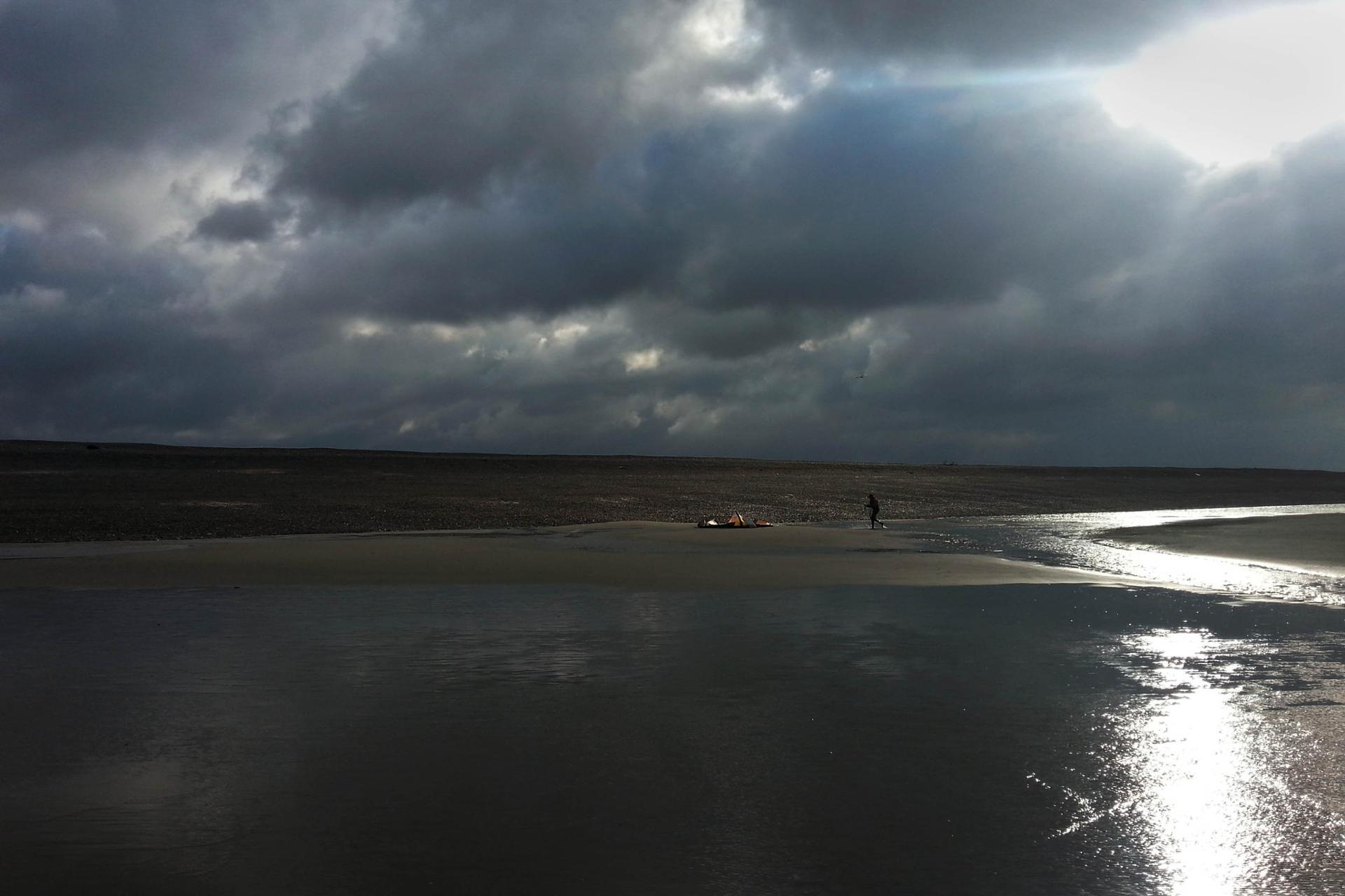 kite surf en hiver