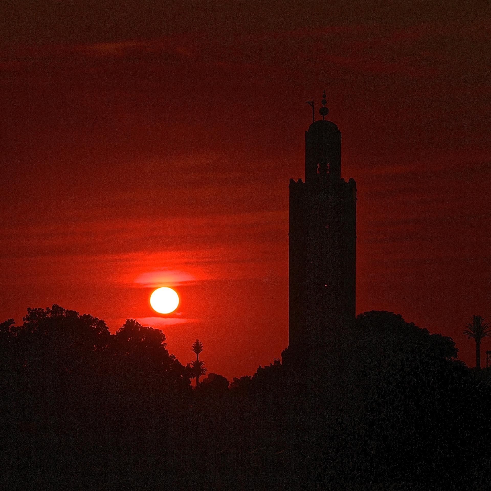 Marrakech s'empourpre