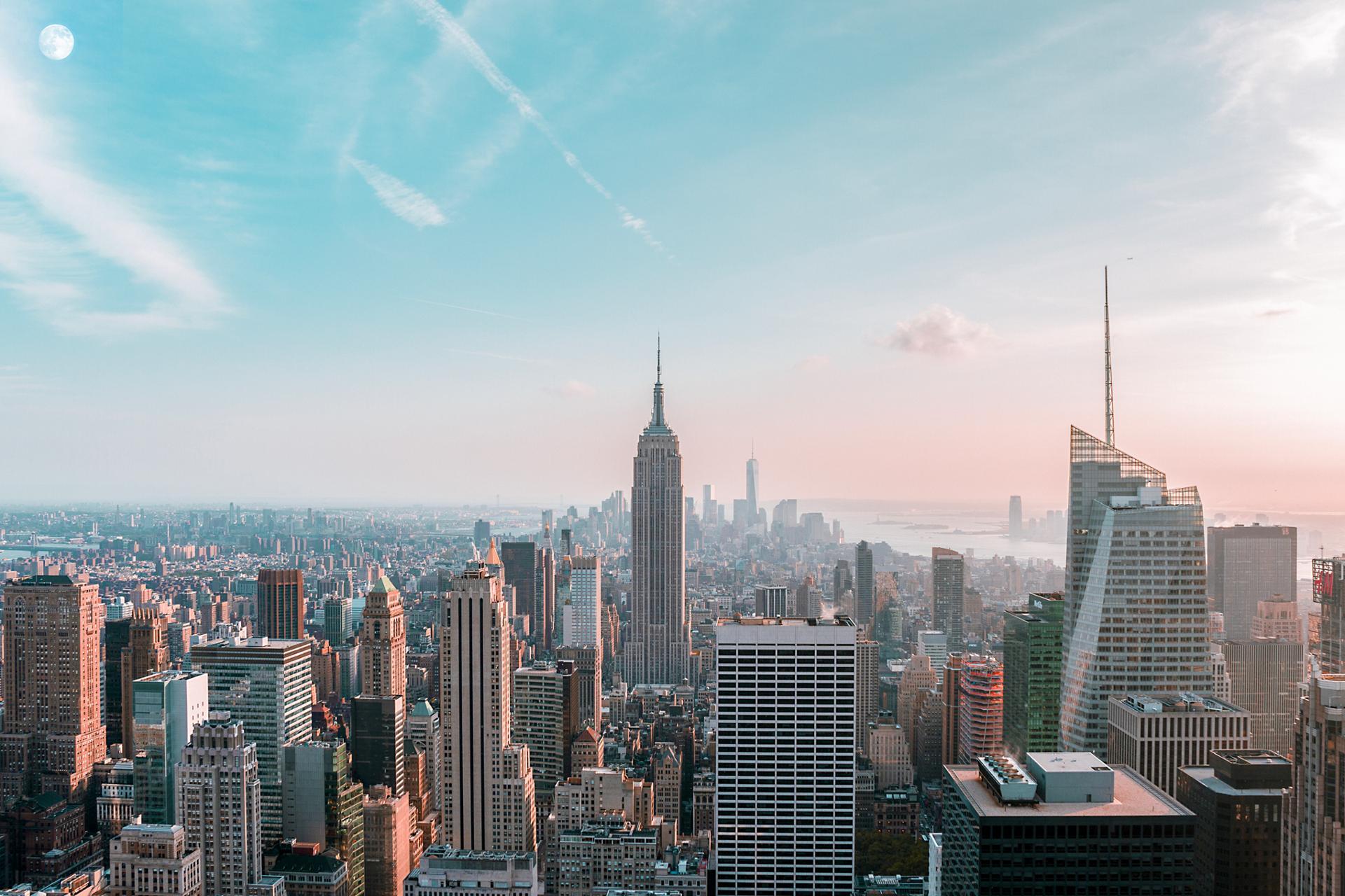 New York et la lune