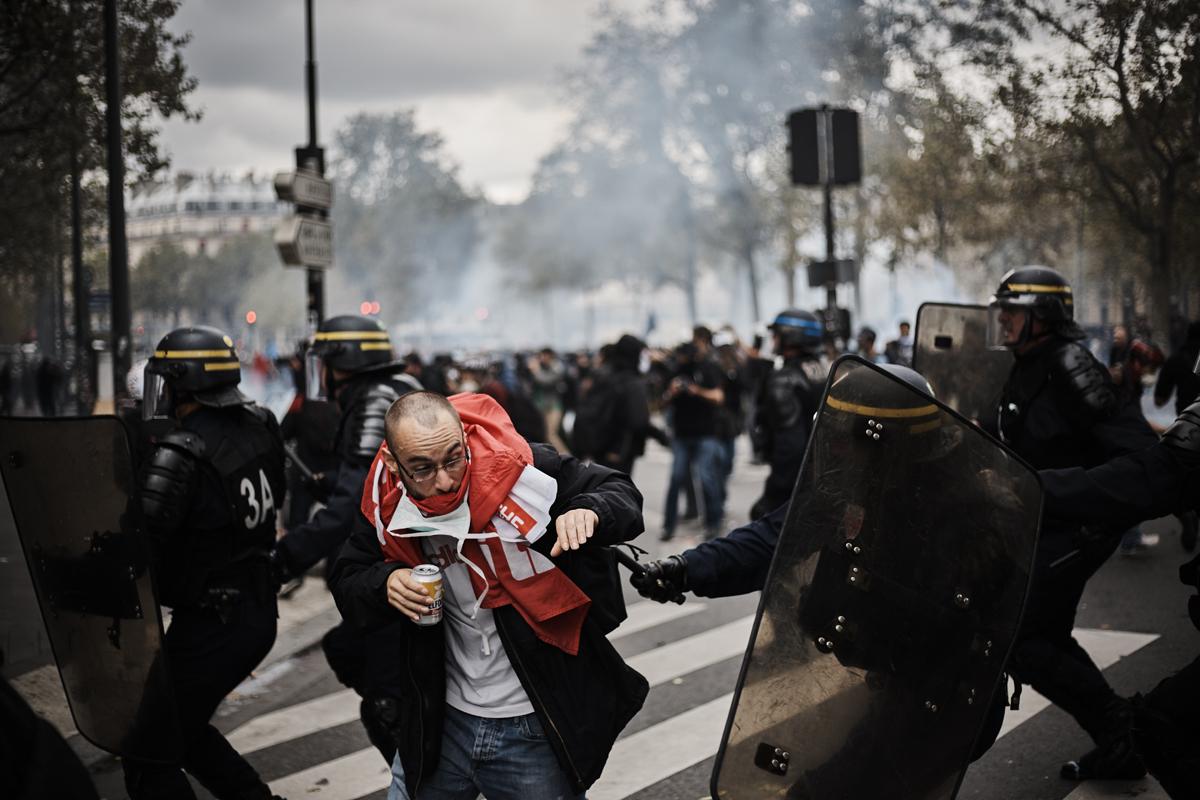 Manifestation contre la Loi travail à Paris le 15 septembre 2016