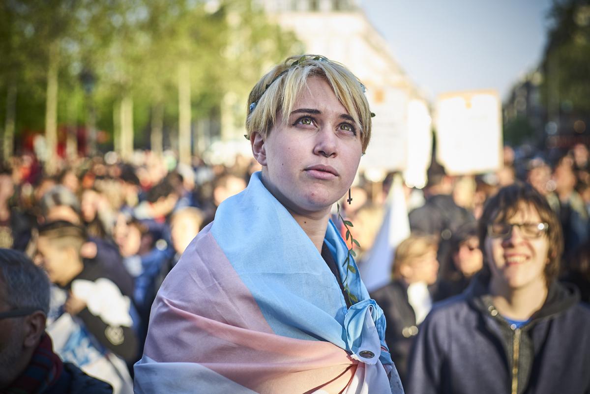 20-04-2017 Rassemblement LGBT à Paris Contre la violence sur la communauté en Tchetchenie