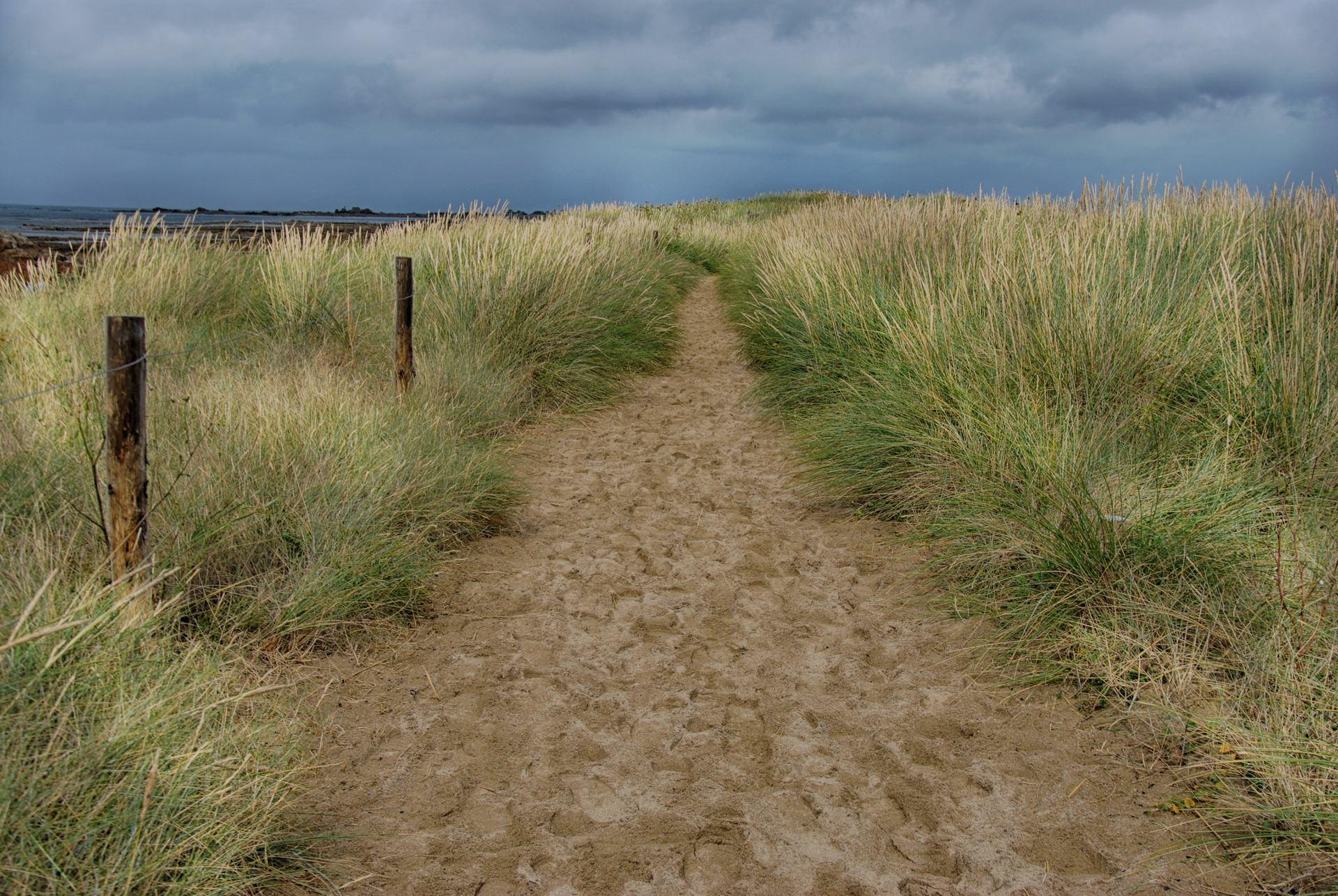 Le passage dans les dunes