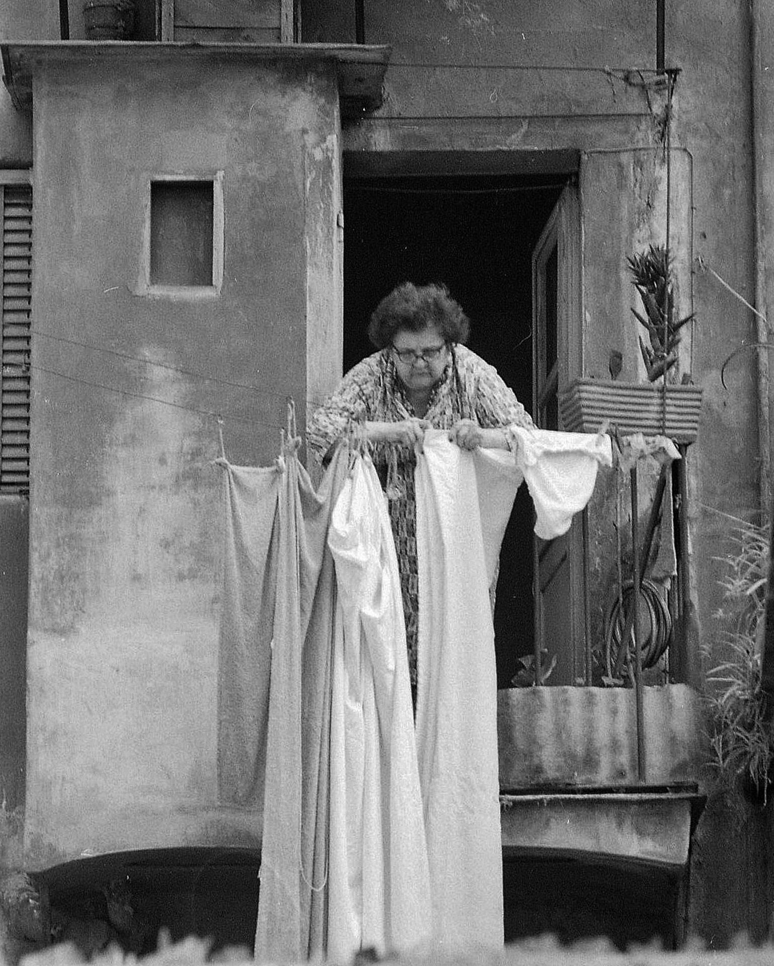 Rome, jour de lessive-argentique