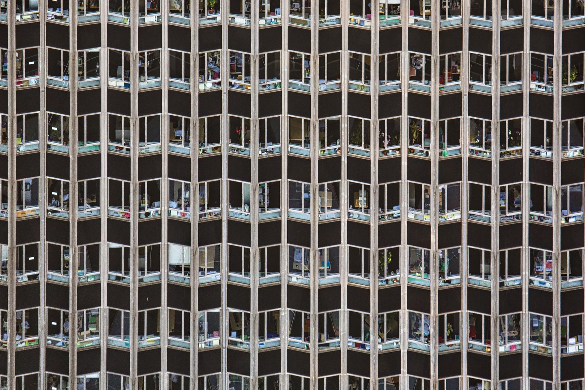 Mur de fenêtres