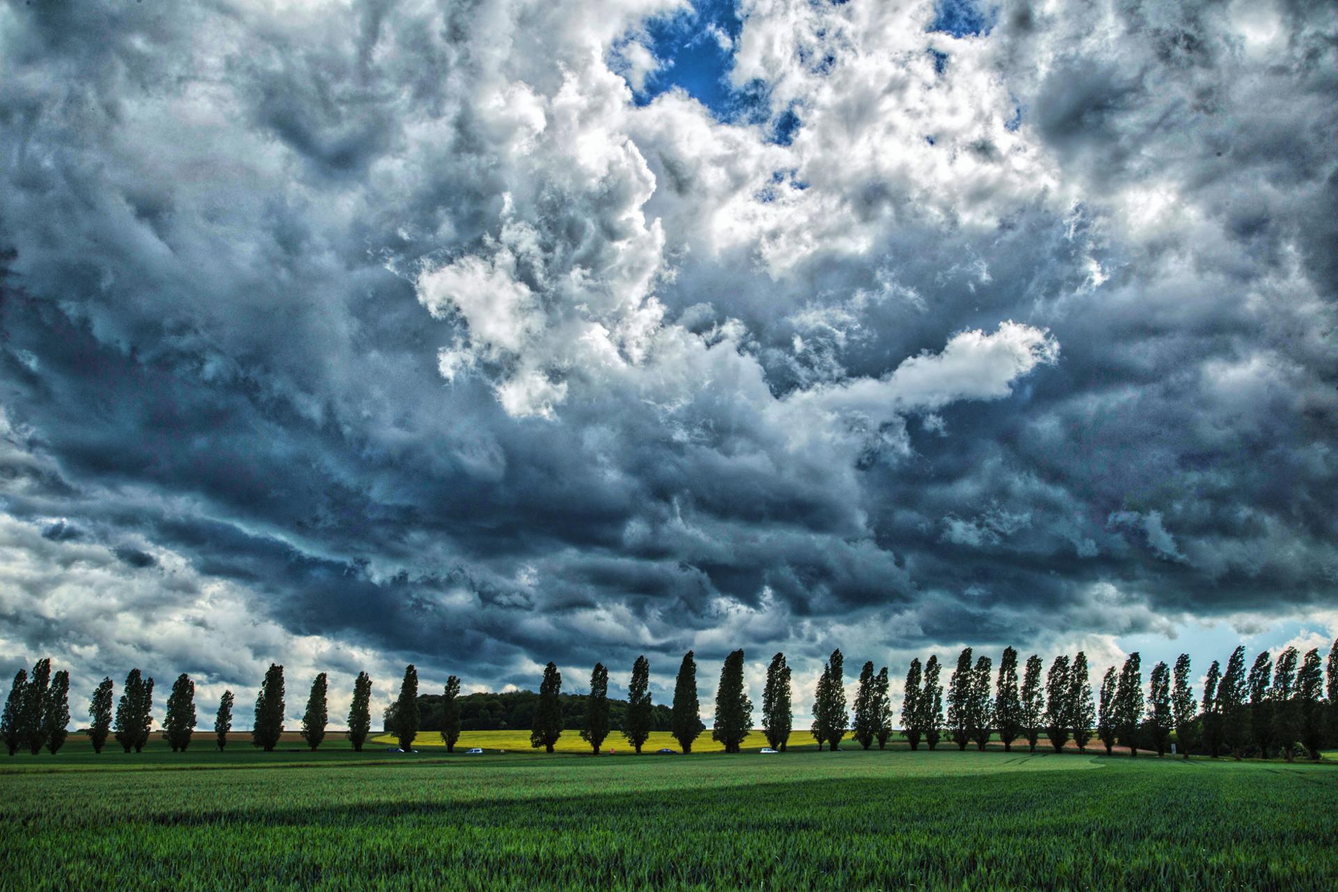 Ciel orageux à Beauvais