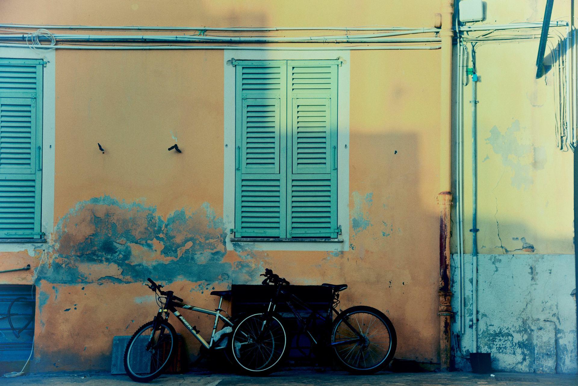 Les deux vélos...