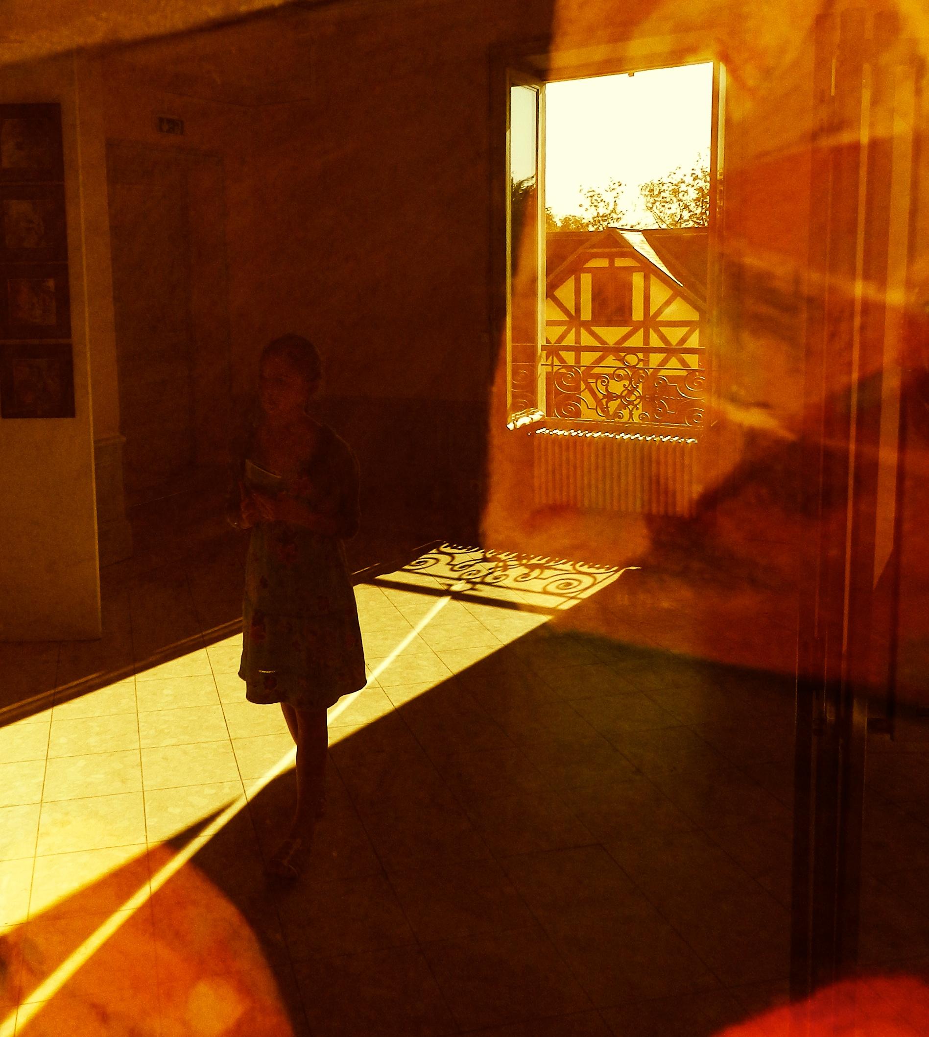 Reflet orangé à la Hopper
