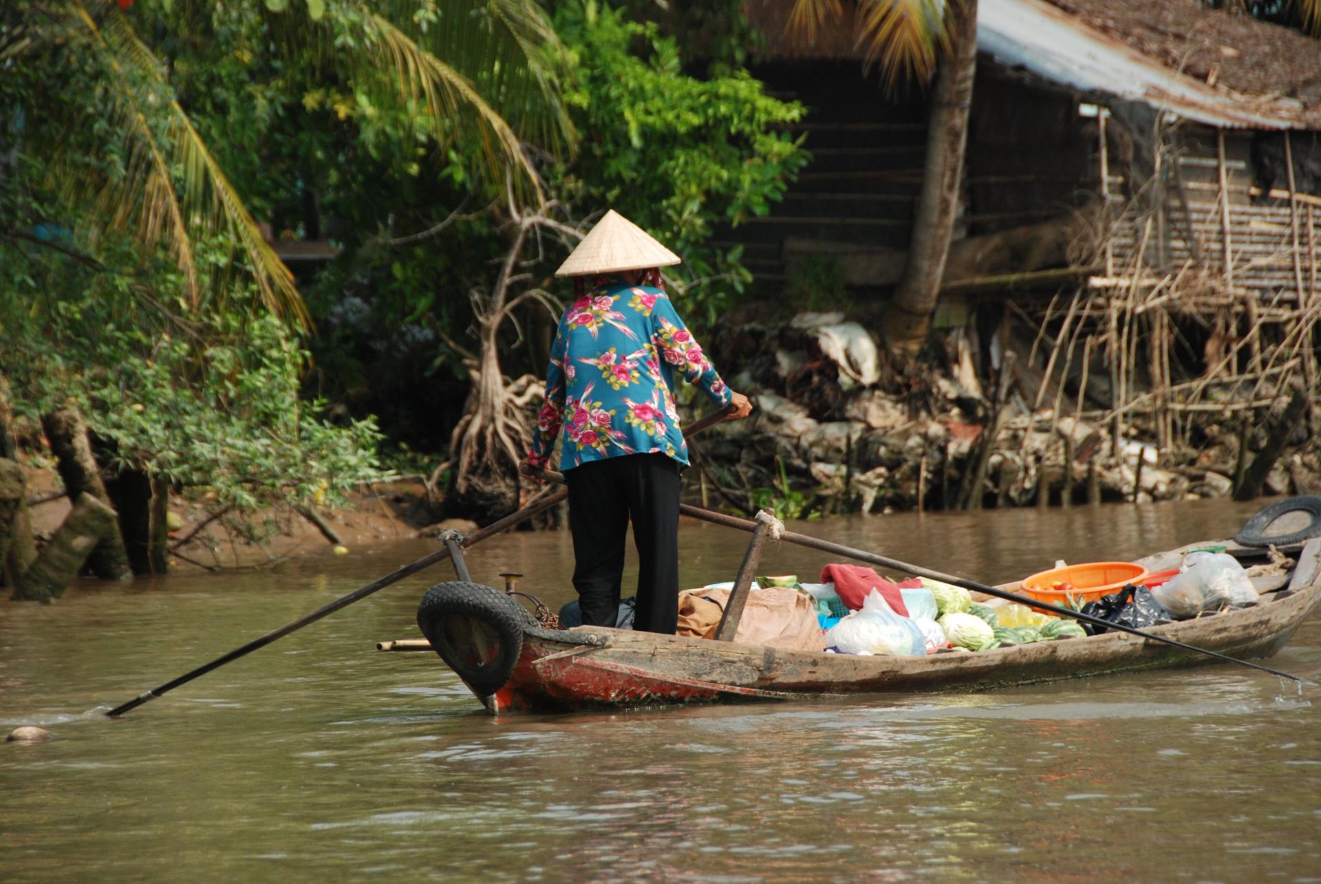 Marché flottant, Delta du Mékong